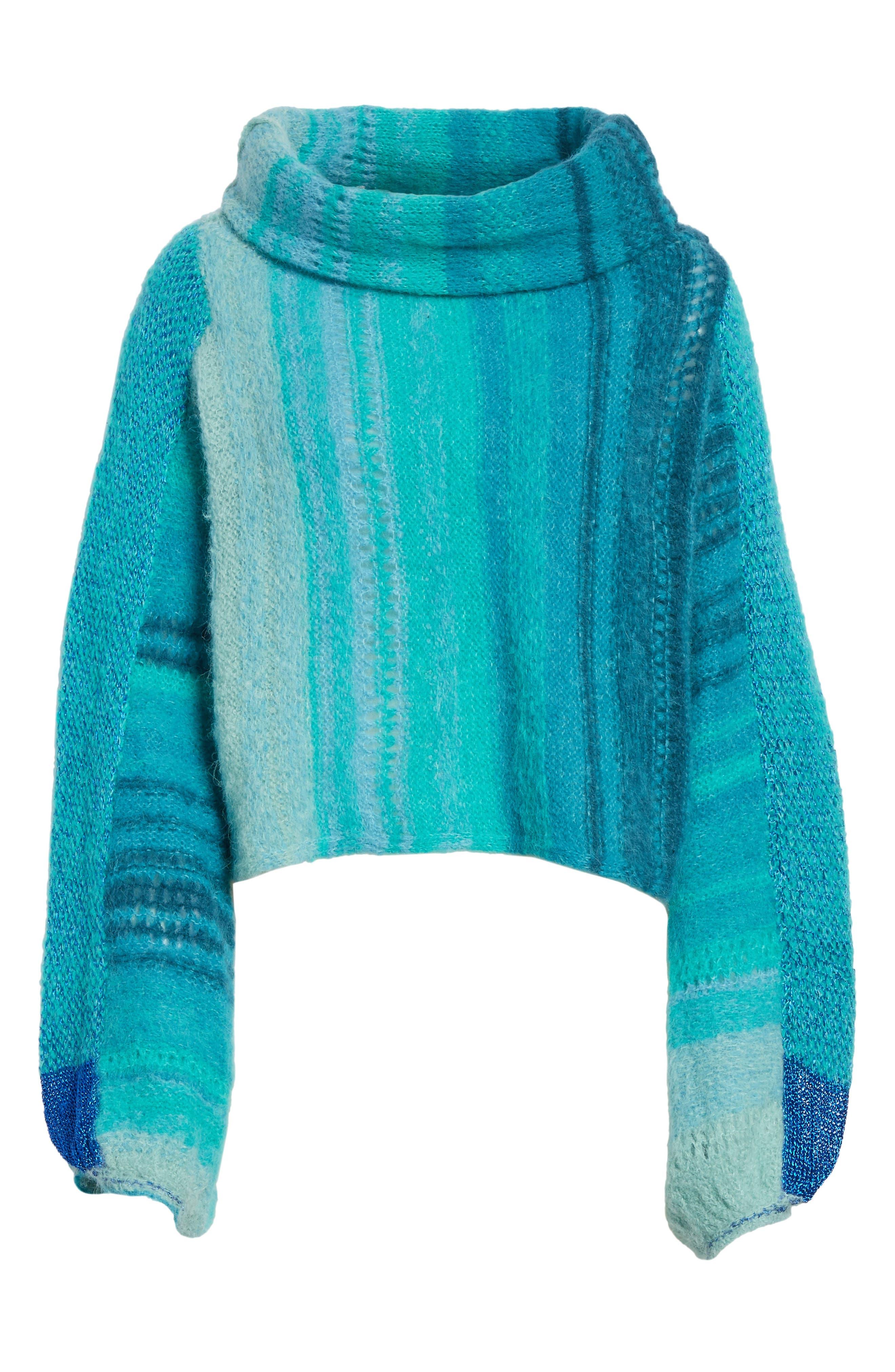 Cloud Kicker Sweater,                             Alternate thumbnail 6, color,                             Blue Combo
