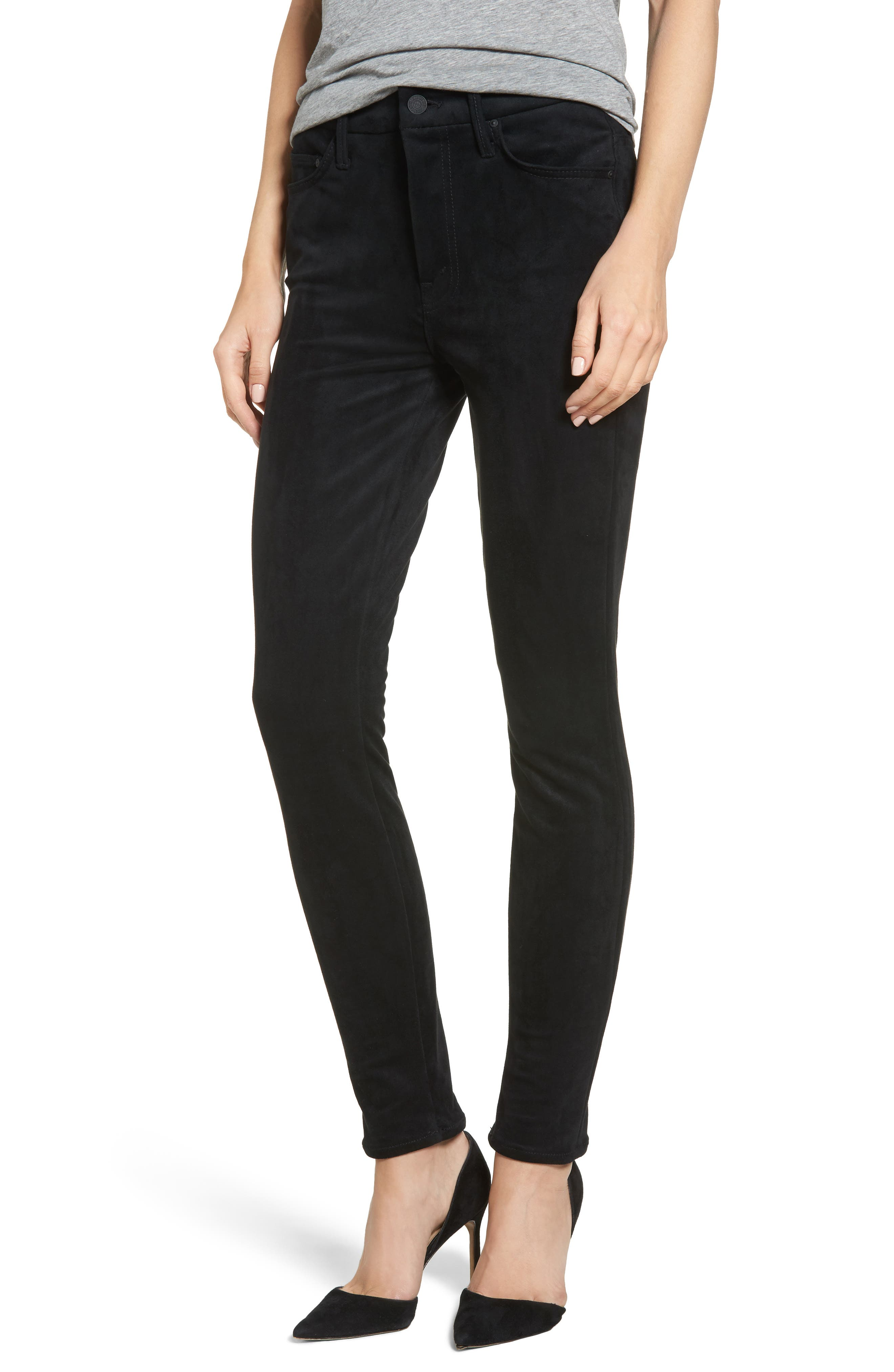 Alternate Image 1 Selected - MOTHER The Looker High Waist Ankle Skinny Jeans (Tricks of the Trade)