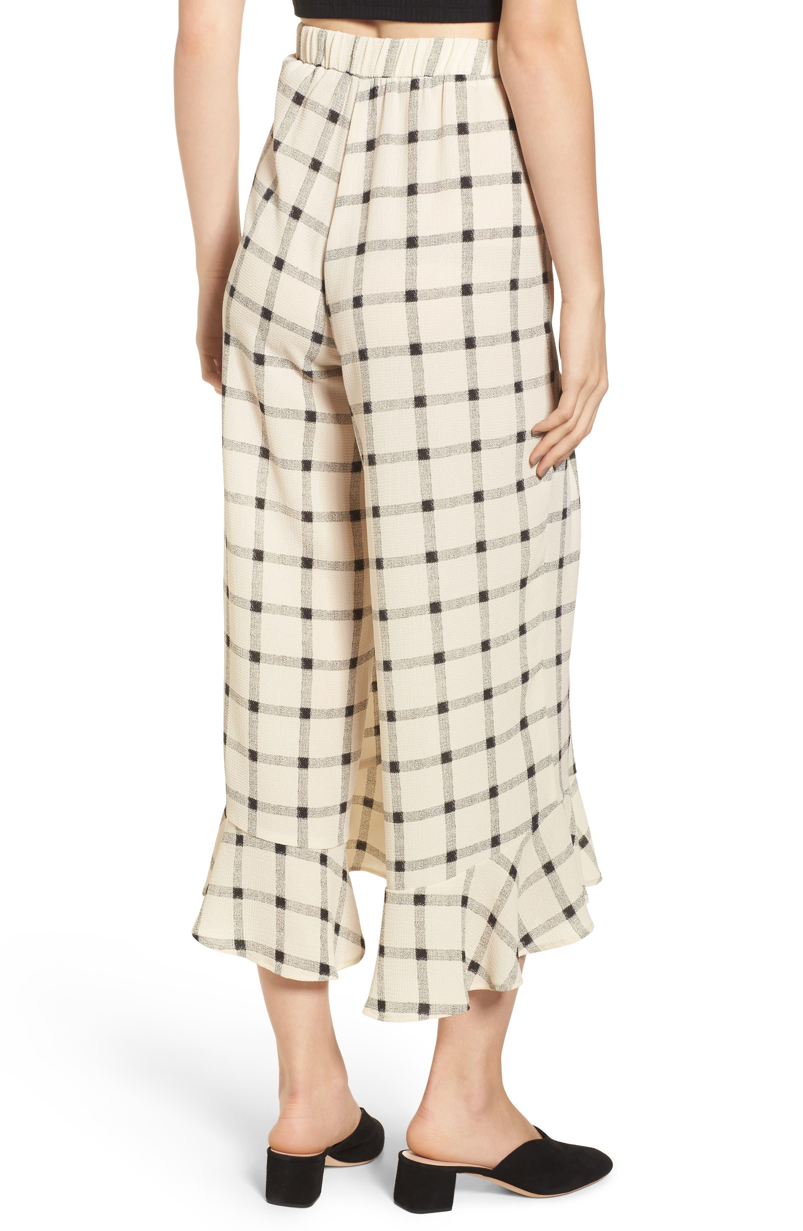 Alternate Image 3  - Mimi Chica Ruffle Hem Crop Pants