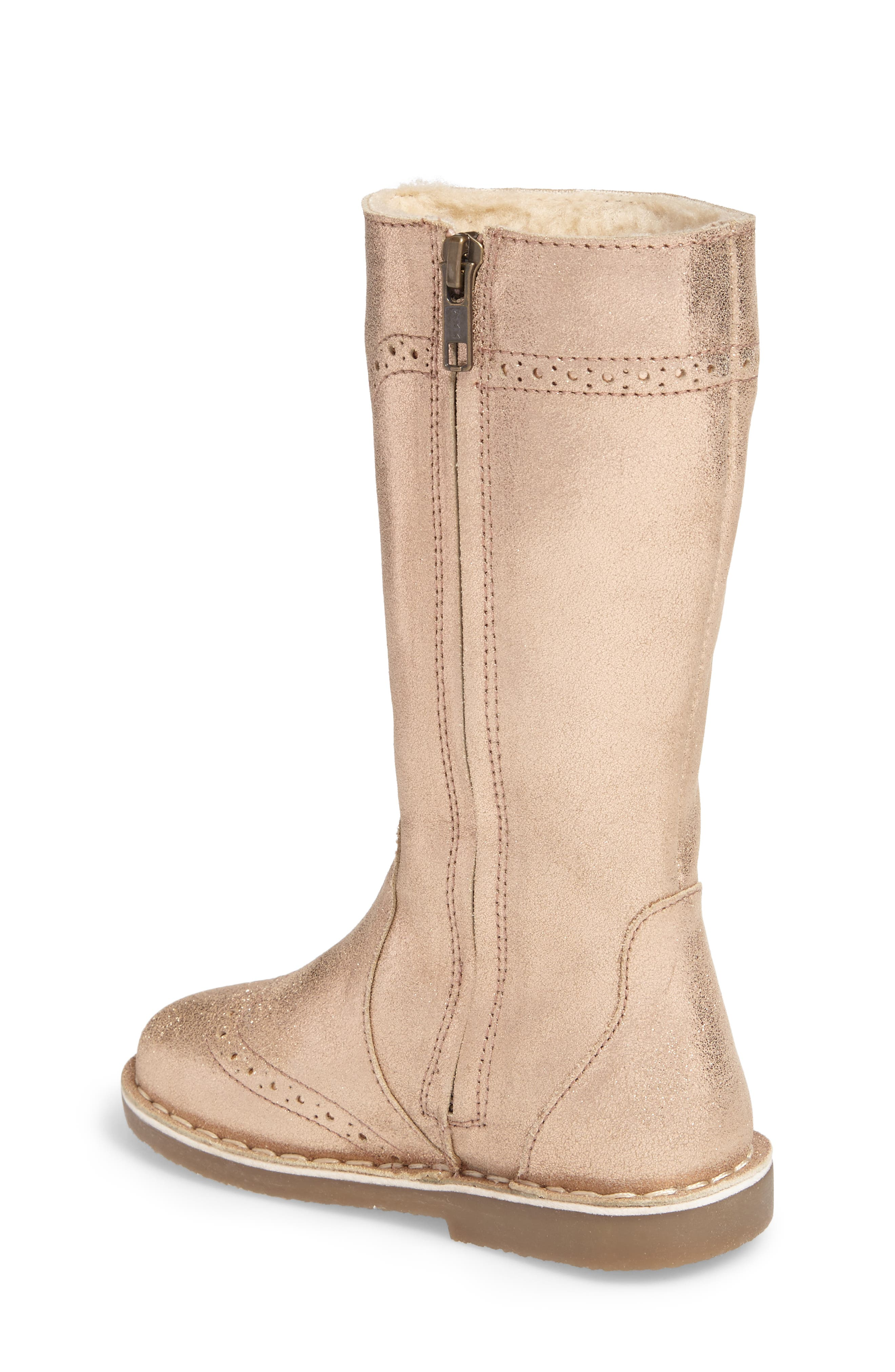 Tall Leather Boot,                             Alternate thumbnail 2, color,                             Rose Gold