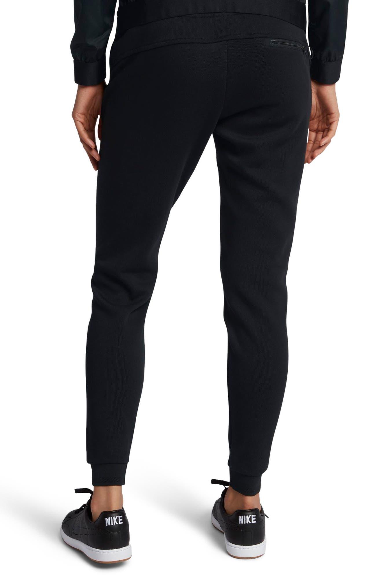 Women's Court Tennis Pants,                             Alternate thumbnail 2, color,                             Black/ Hot Punch/ White
