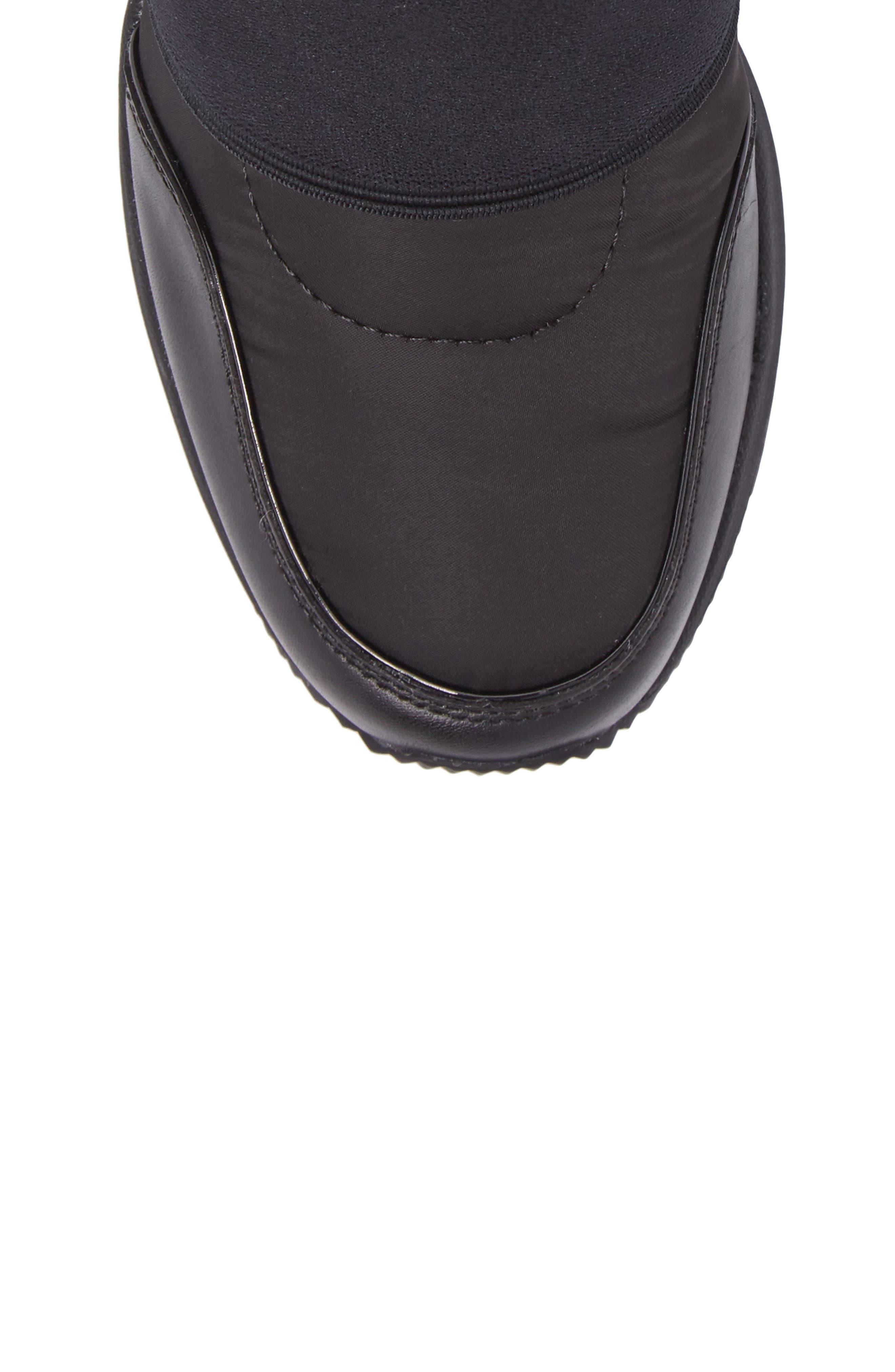 Shay Wedge Bootie,                             Alternate thumbnail 5, color,                             Black Nylon Fabric