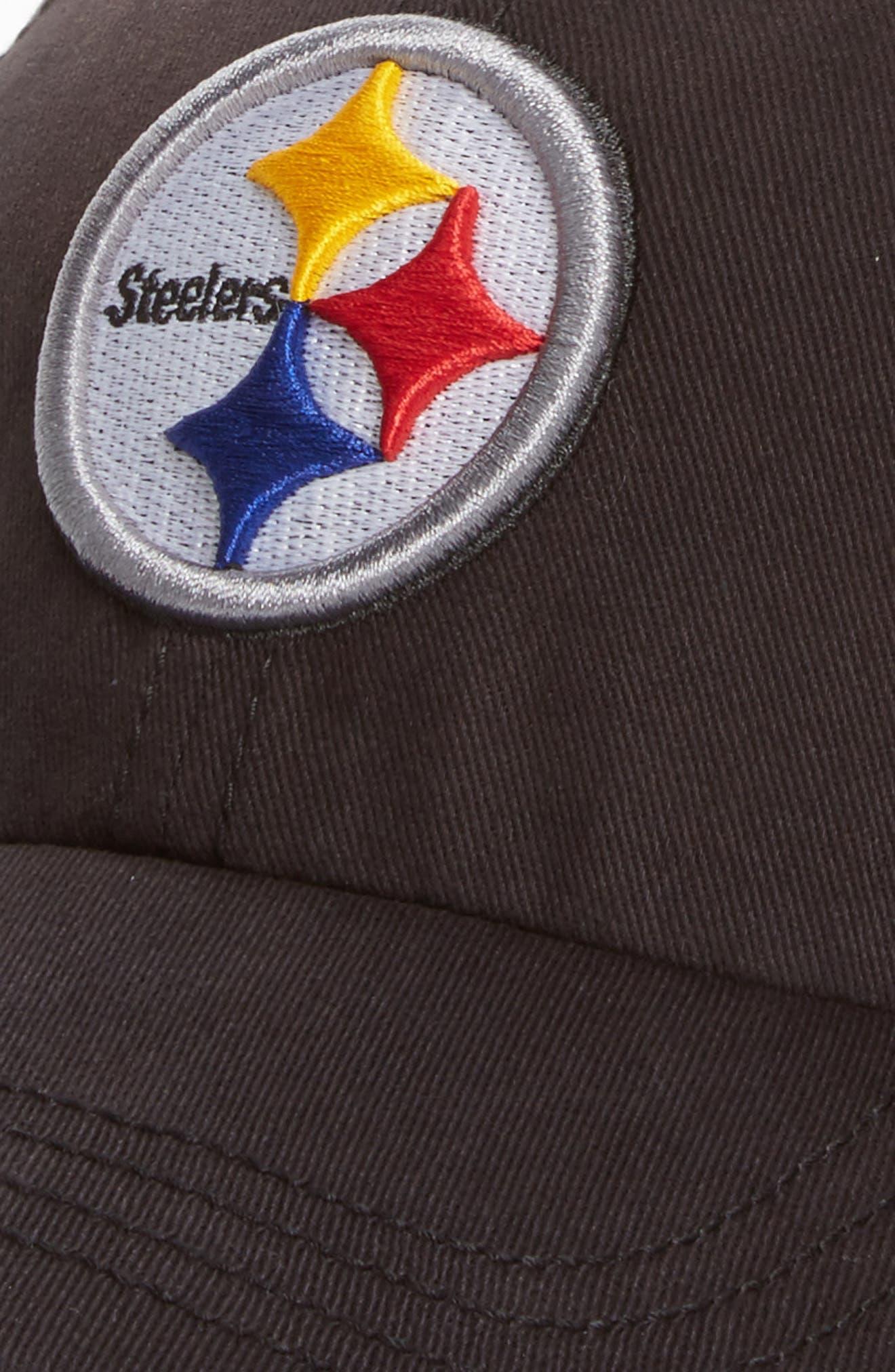 Pittsburgh Steelers Cap,                             Alternate thumbnail 3, color,                             Black
