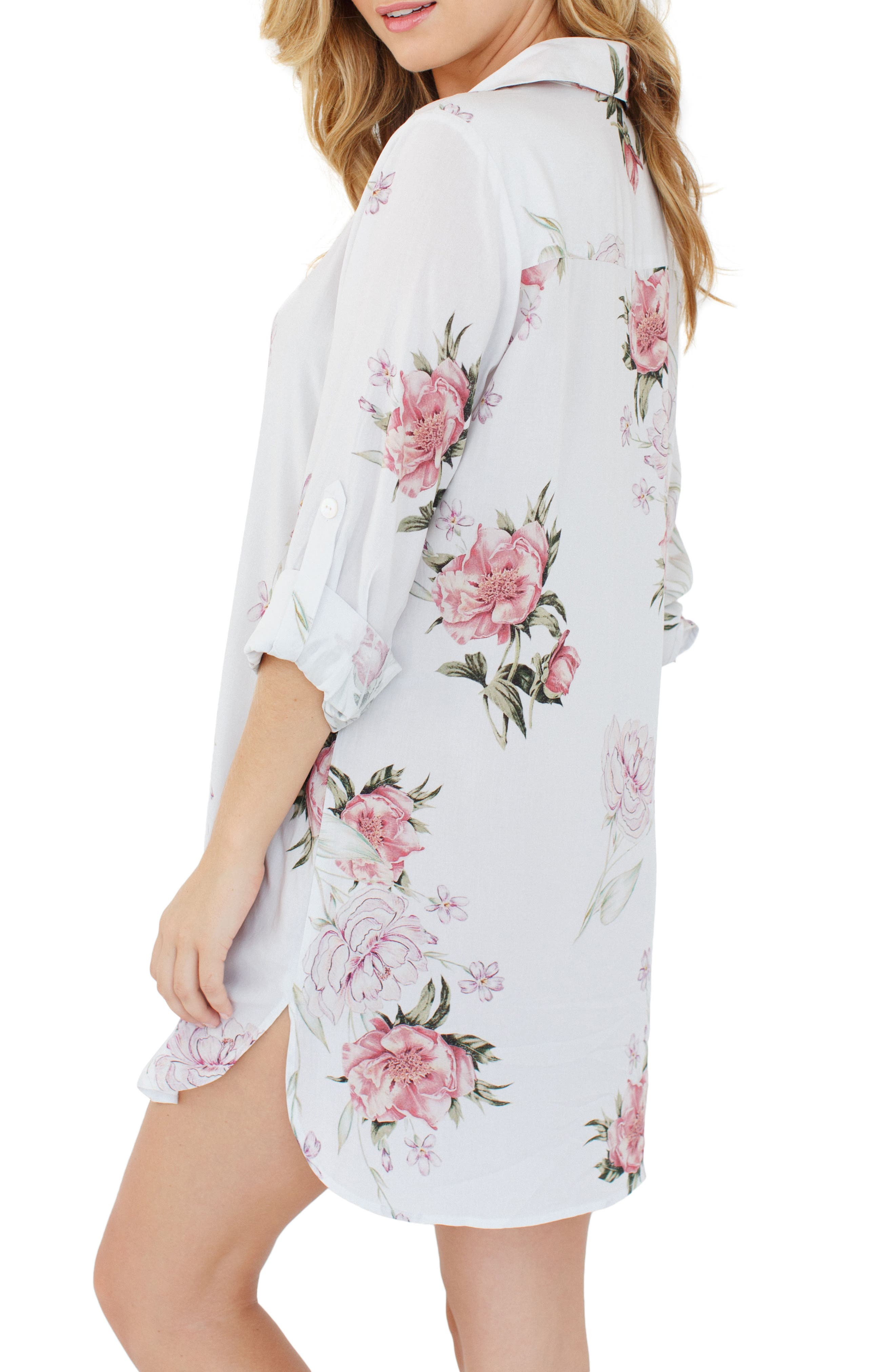 Alternate Image 2  - Plum Pretty Sugar Floral Nightshirt