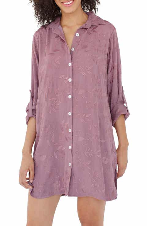 Plum Pretty Sugar Floral Embroidered Nightshirt