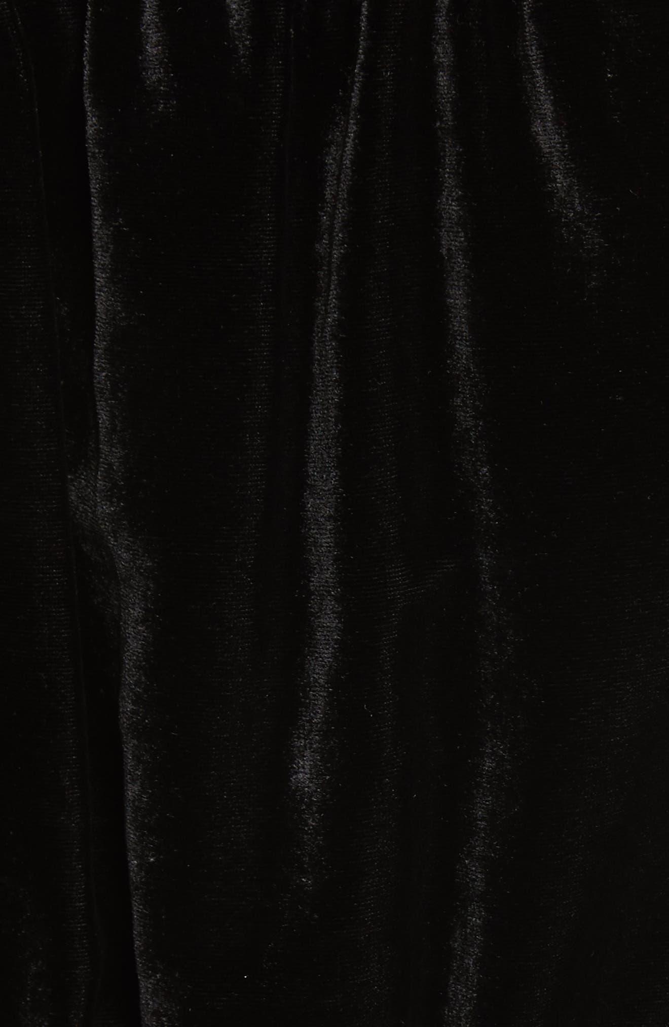 True Lovin Velvet Jumpsuit,                             Alternate thumbnail 6, color,                             Black