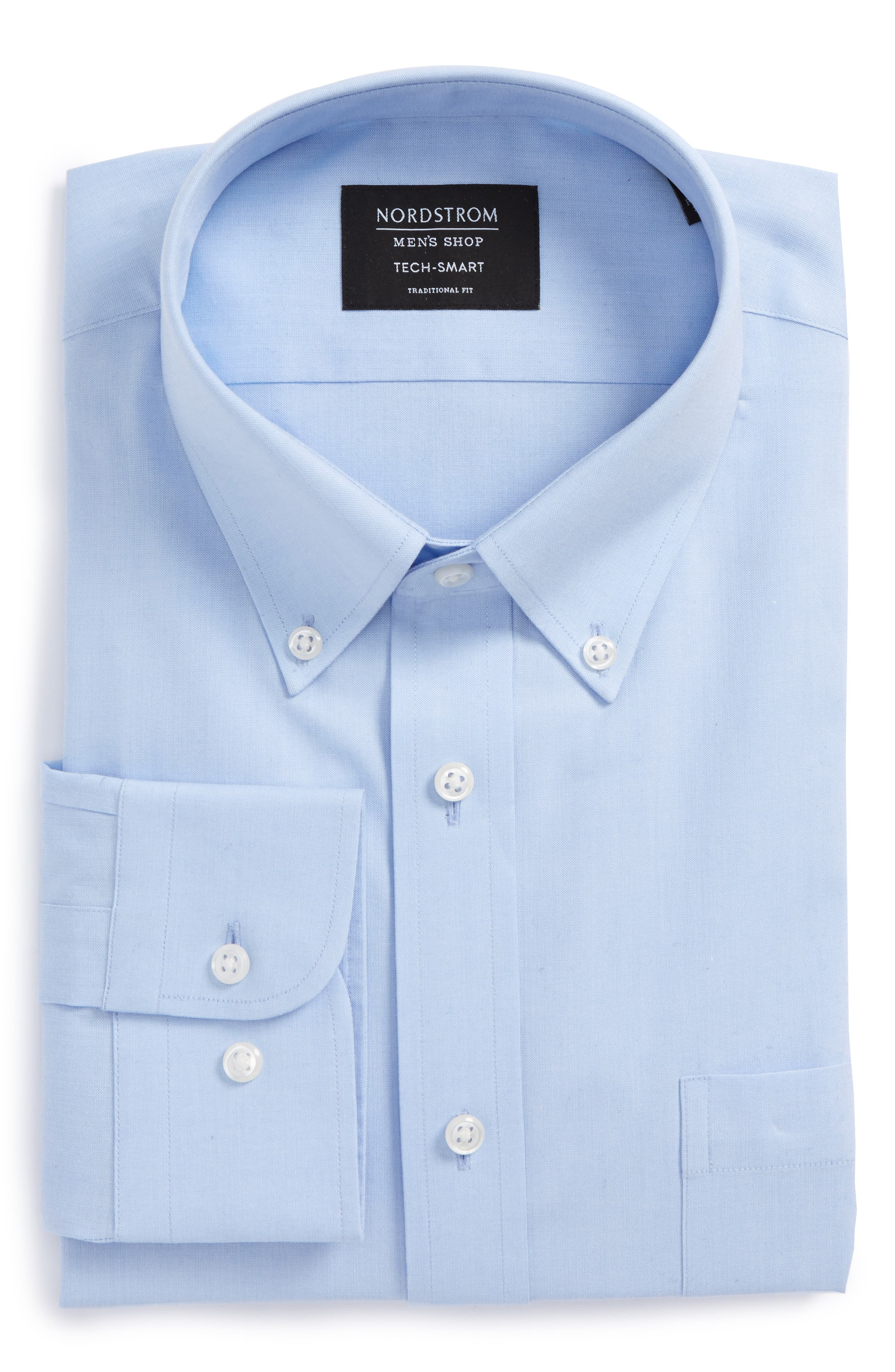 Nordstrom Men's Shop Tech-Smart Traditional Fit Stretch Solid Dress Shirt
