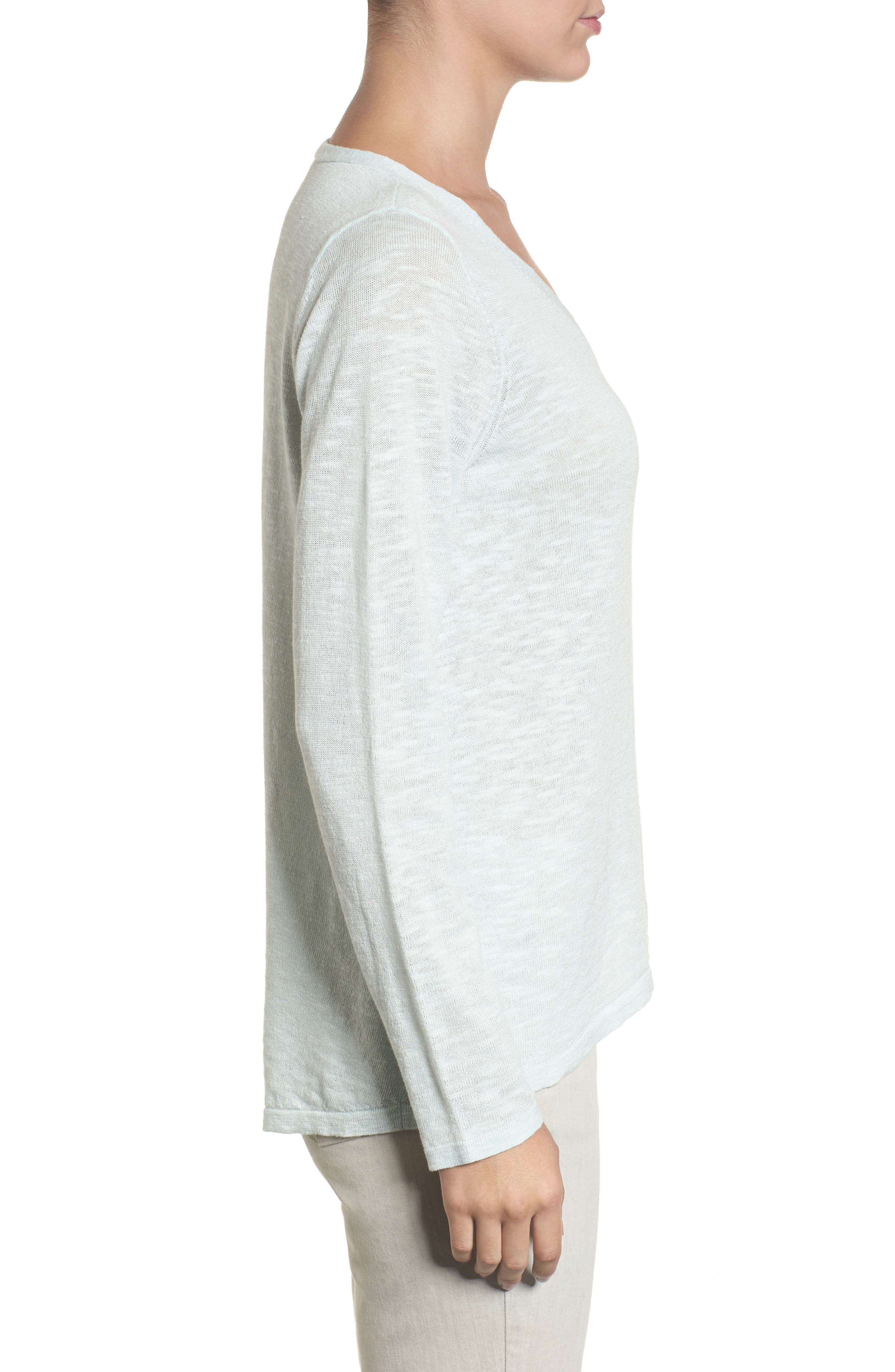 Alternate Image 3  - Eileen Fisher Organic Linen & Cotton V-Neck Sweater