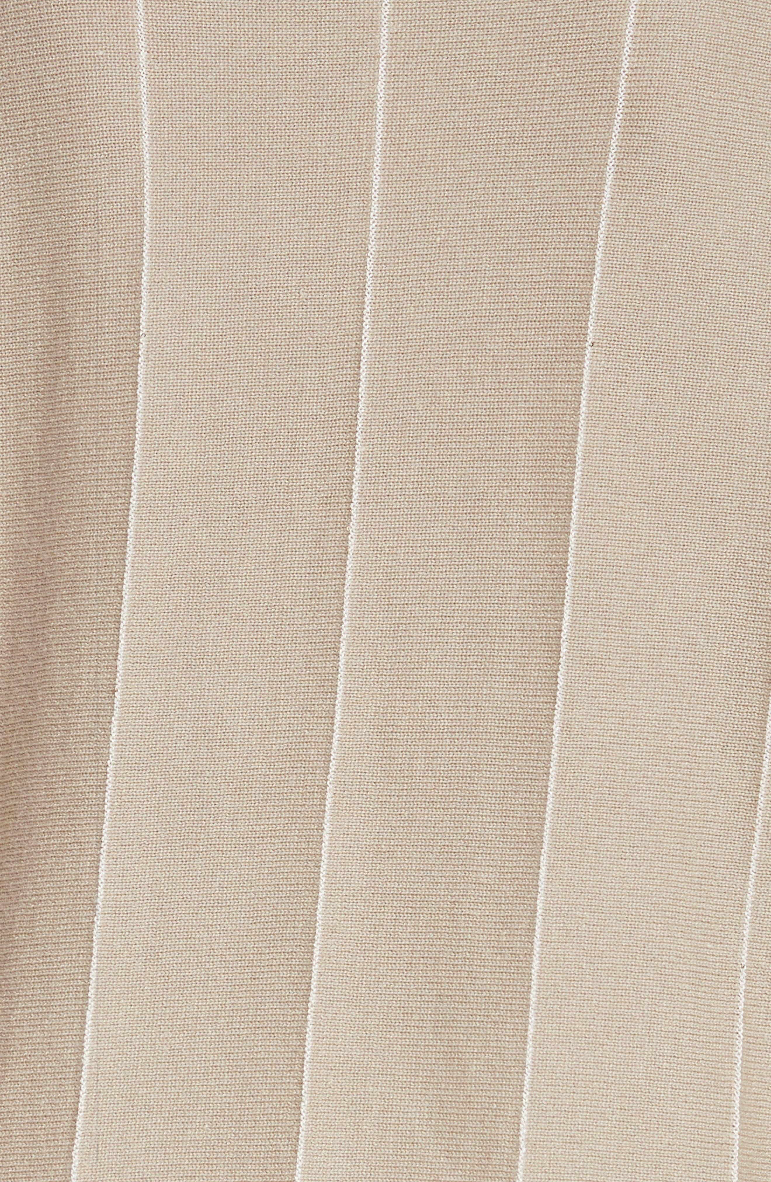 Sequin Knit Cashmere & Silk Pullover,                             Alternate thumbnail 5, color,                             Khaki Multi