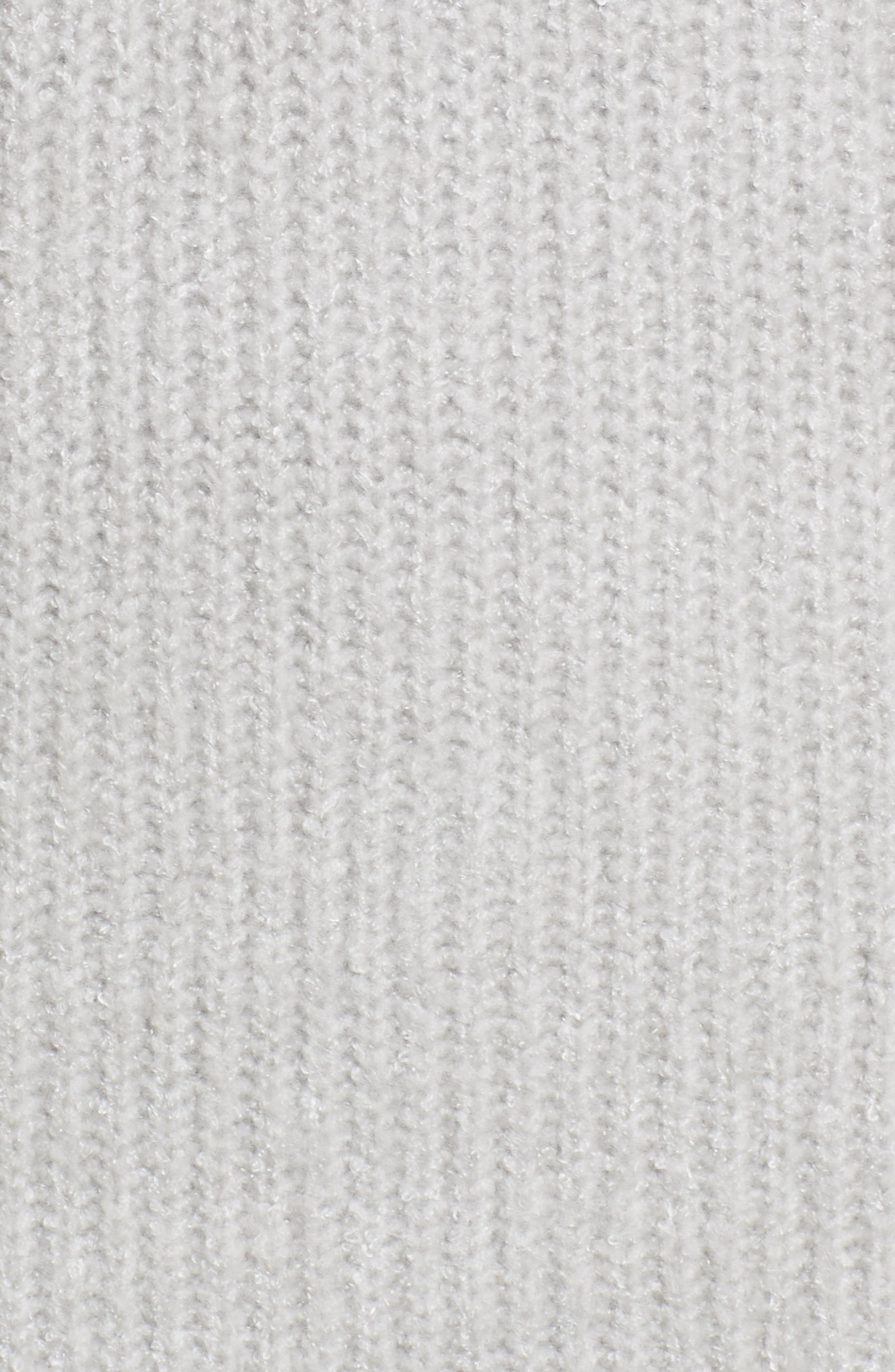 Gemstone Sweater Dress,                             Alternate thumbnail 5, color,                             Warm Grey