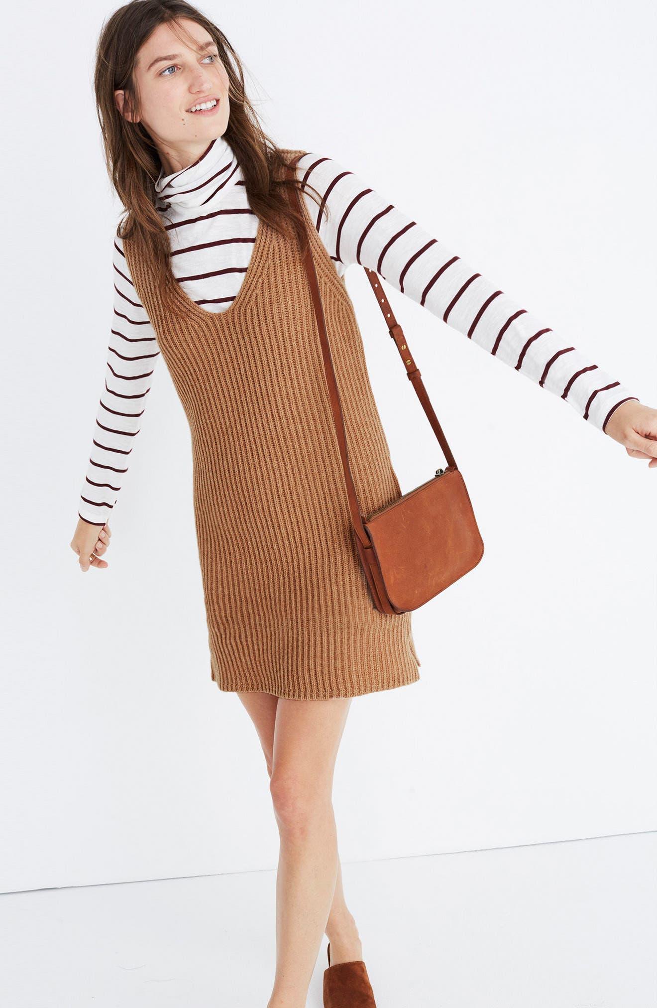 Alternate Image 2  - Madewell Tunic Sweater Dress