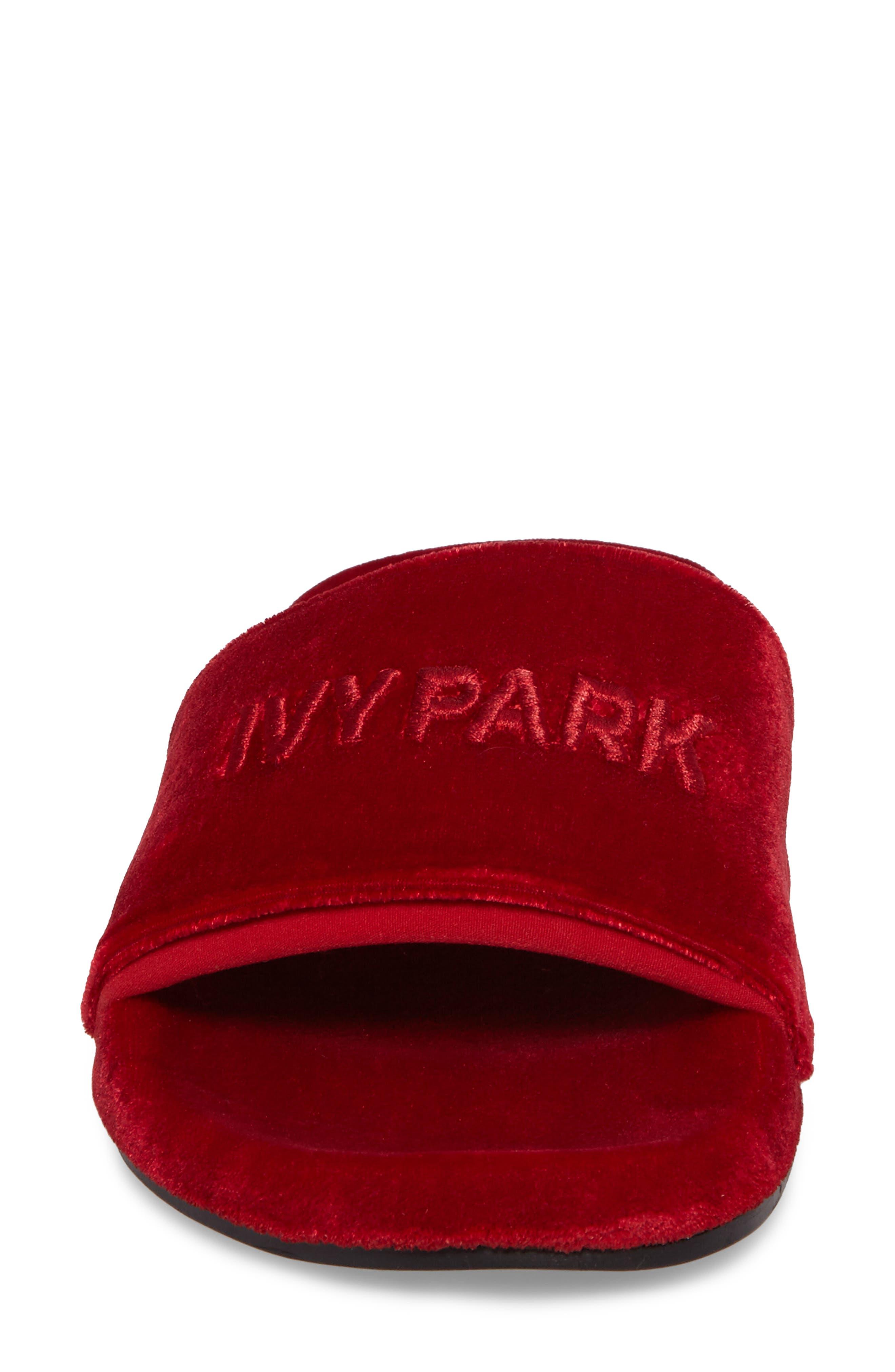 Alternate Image 4  - IVY PARK® Velvet Embossed Slide Sandal (Women)