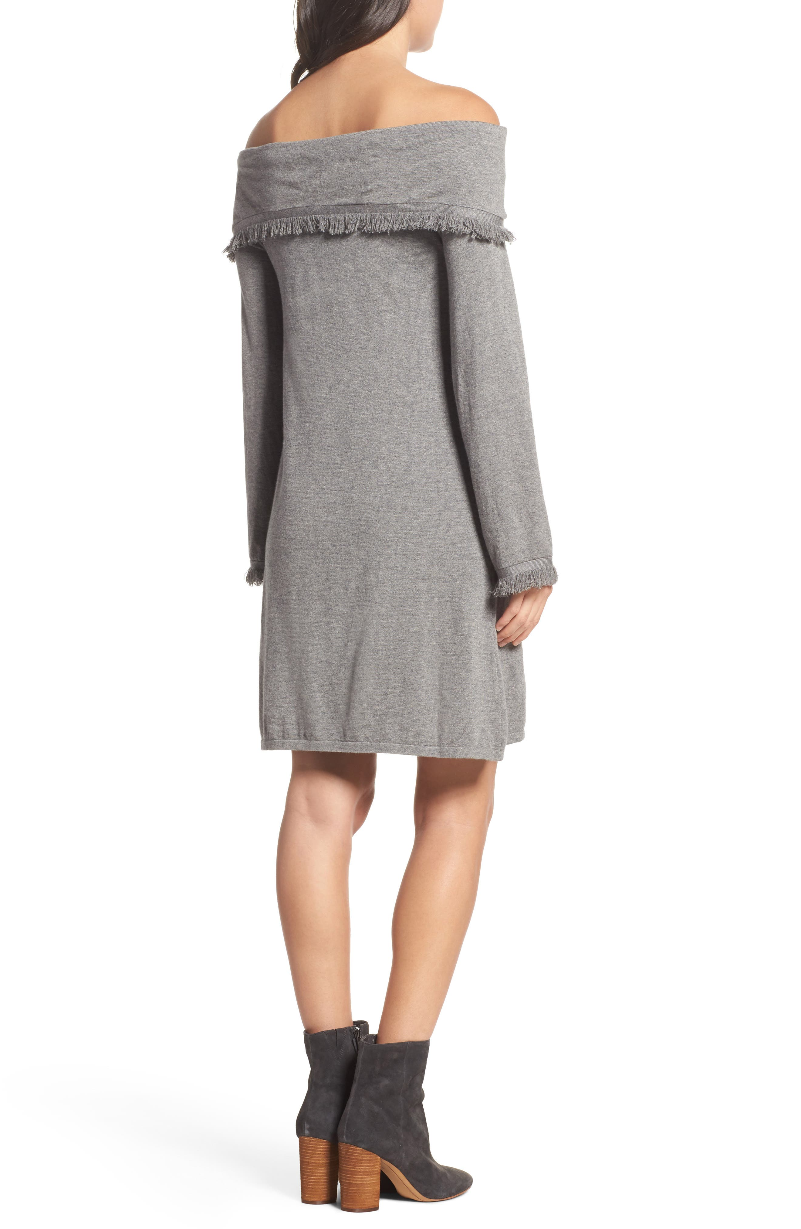 Alternate Image 2  - THML Off the Shoulder Knit Dress