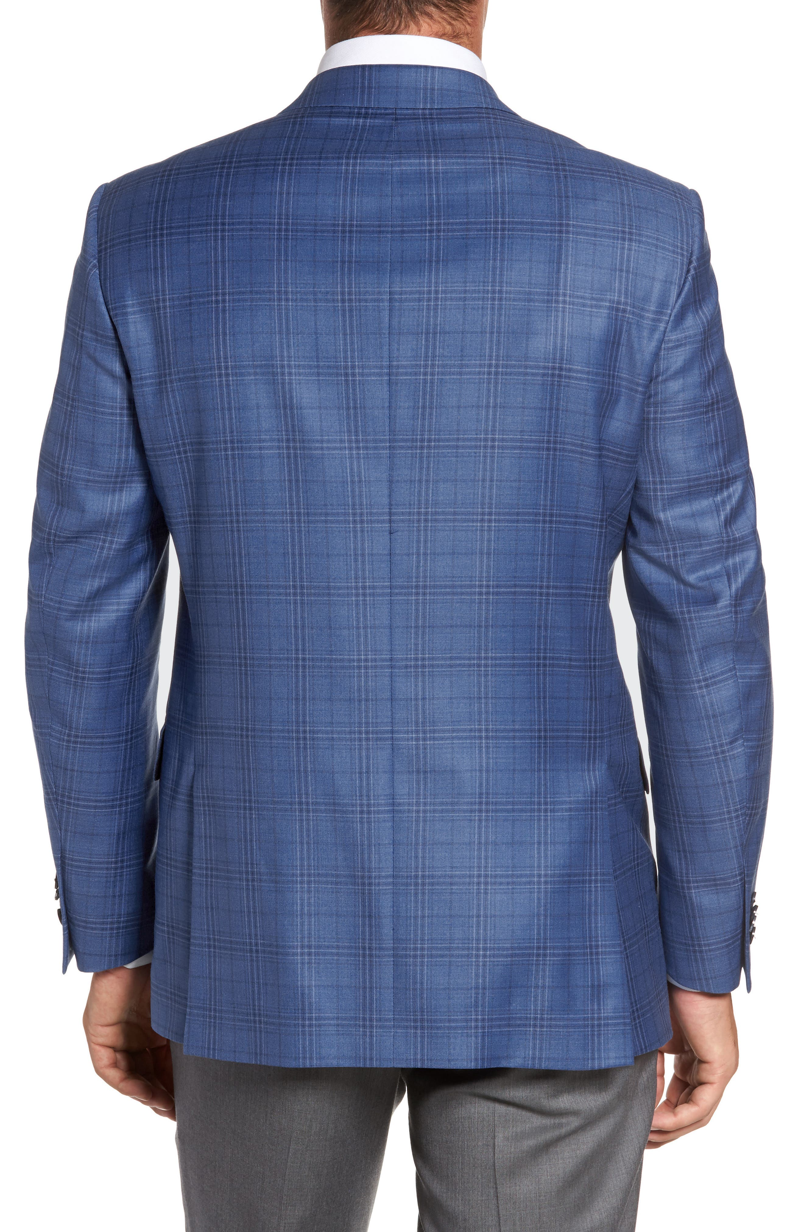 Alternate Image 2  - Peter Millar Flynn Classic Fit Plaid Wool Sport Coat