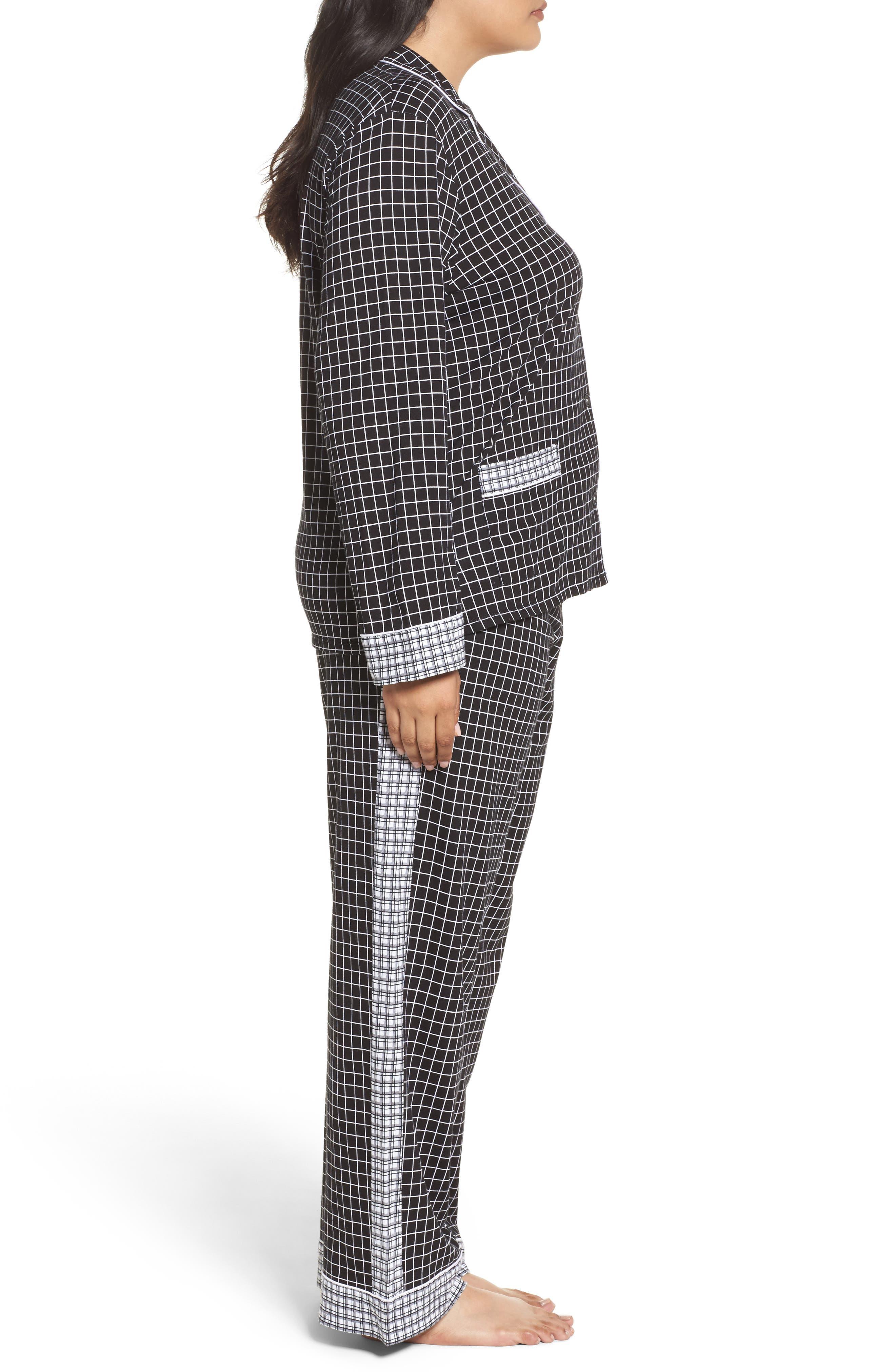 Alternate Image 3  - DKNY Jersey Pajamas (Plus Size)