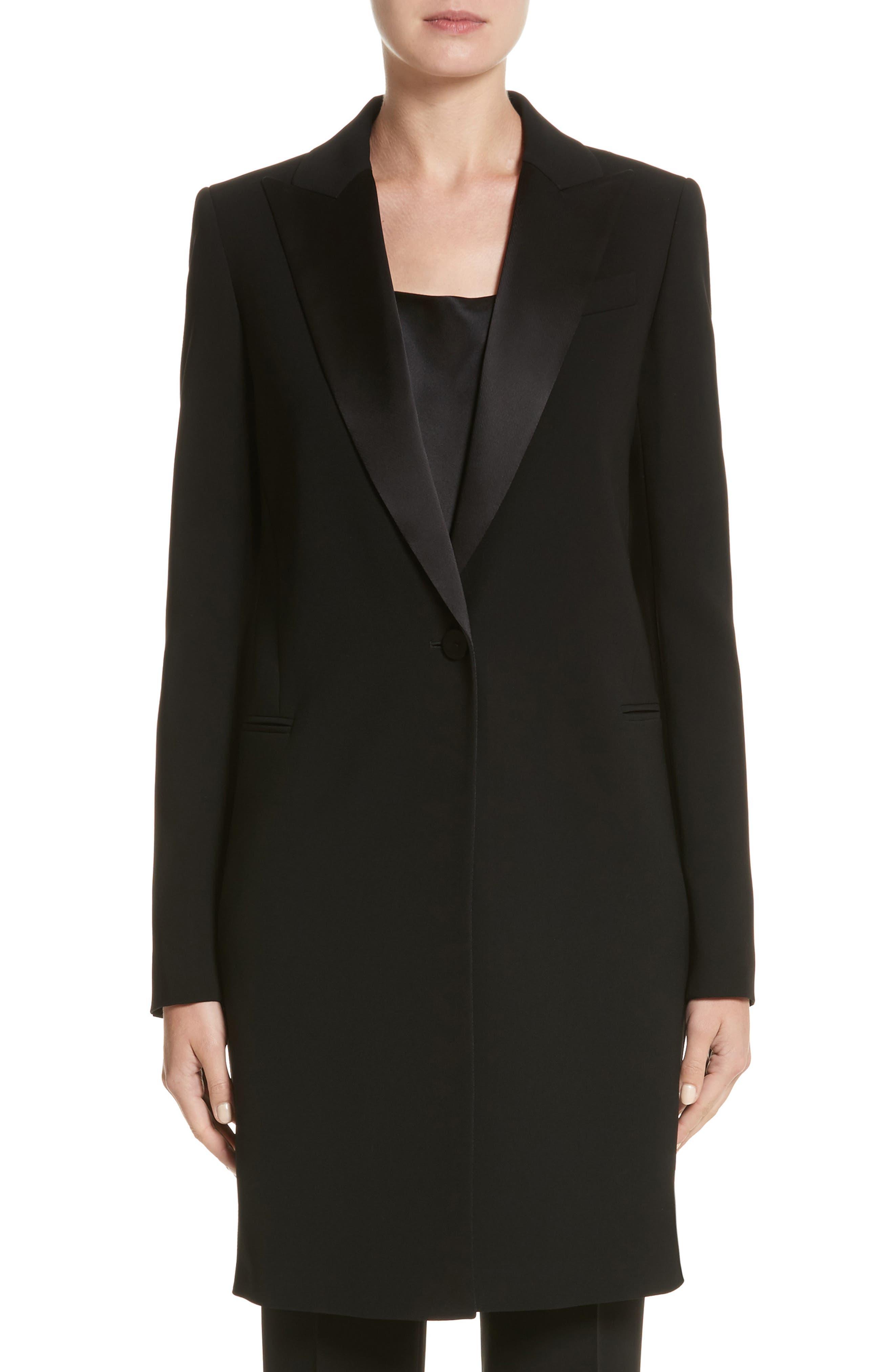 Alternate Image 1 Selected - Lafayette 148 New York Satin Lapel Tuxedo Jacket