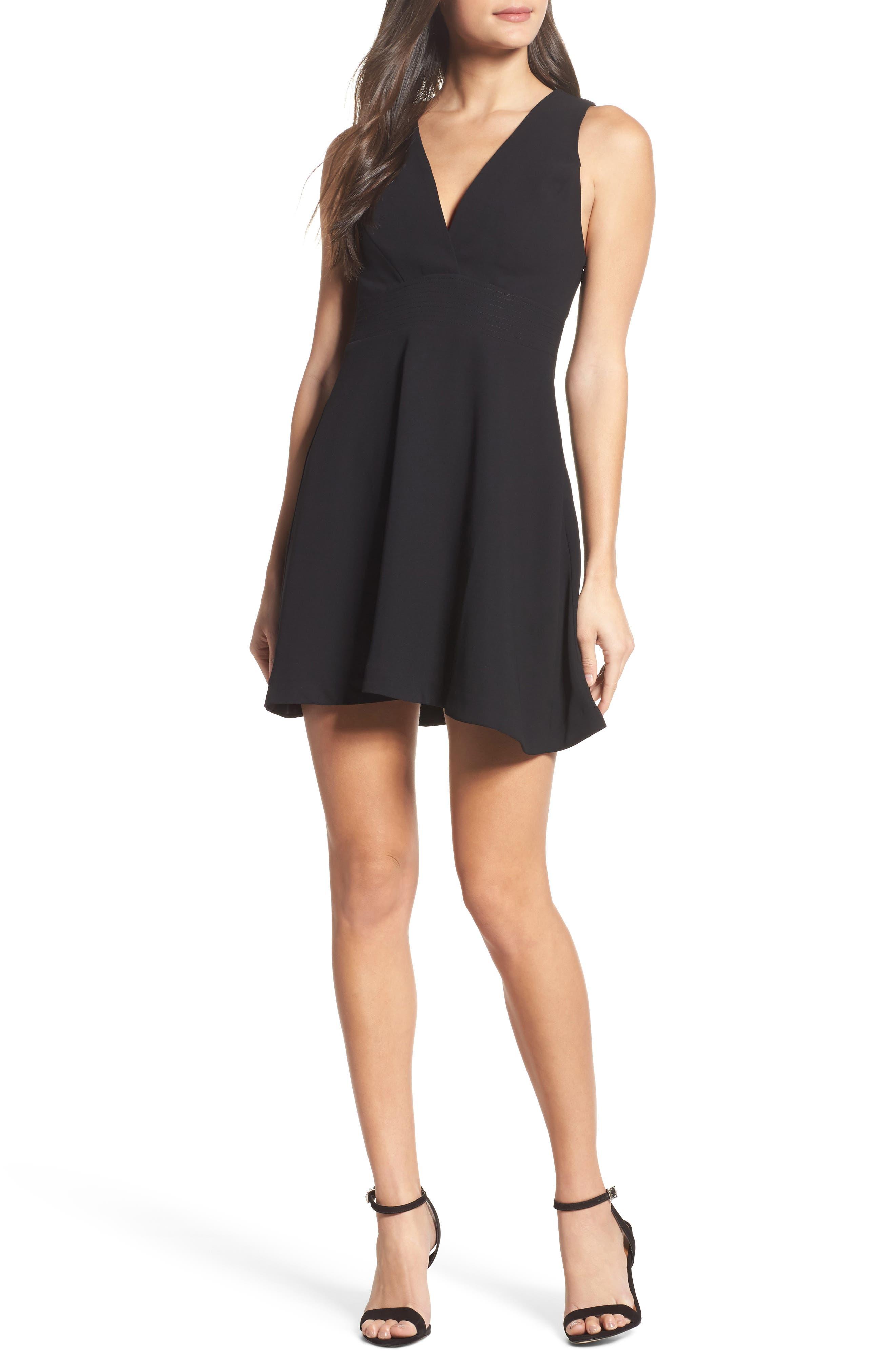 Greylin Elinda Fit & Flare Minidress