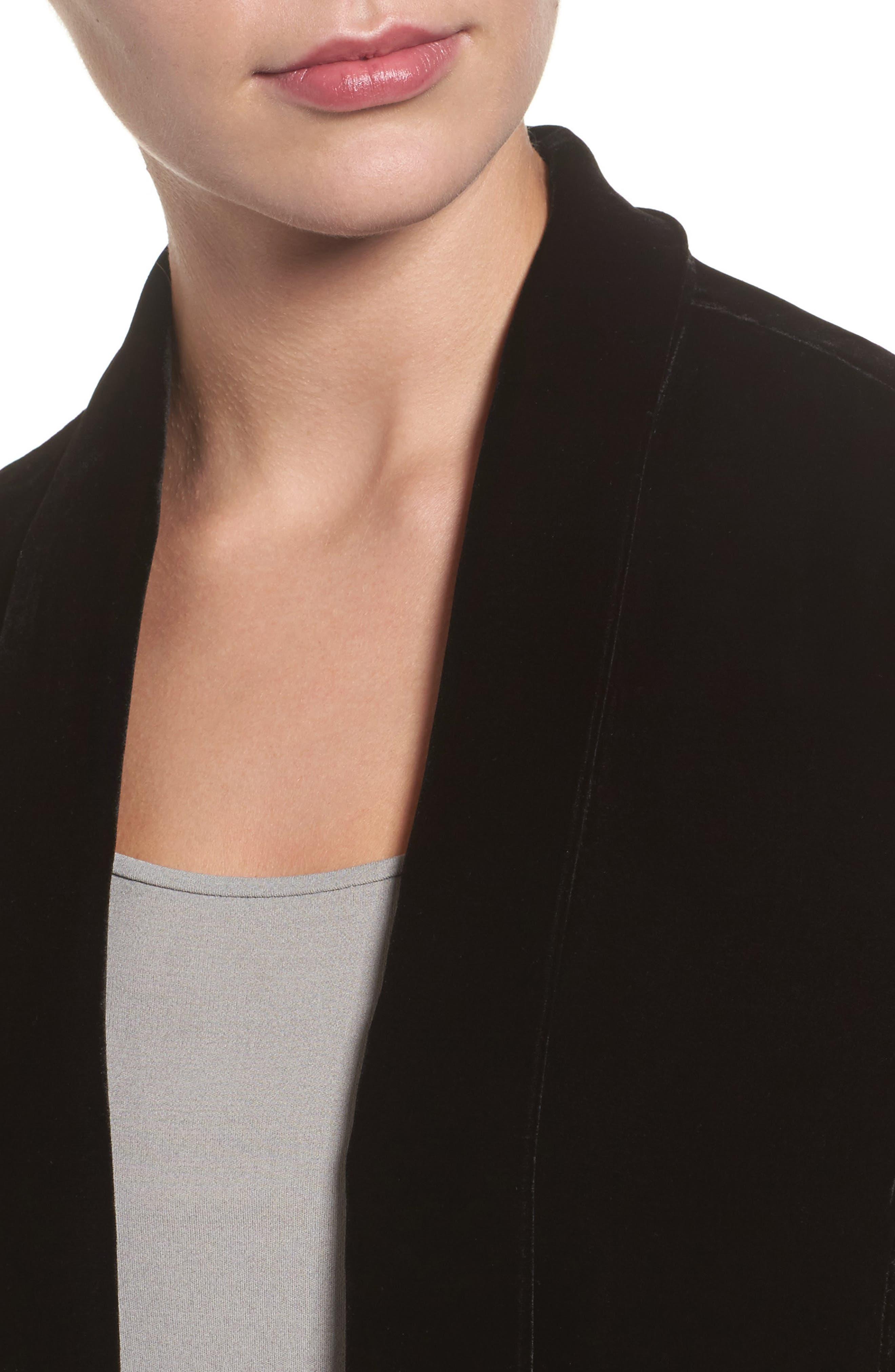 Alternate Image 4  - Eileen Fisher Shawl Collar Velvet Jacket (Regular & Petite)