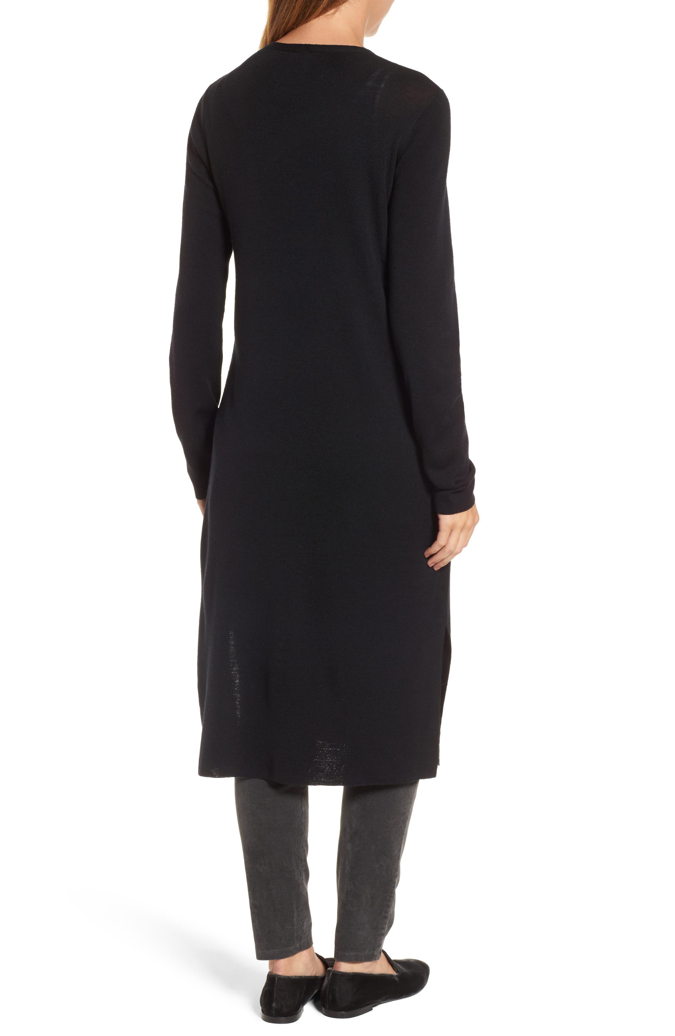 Alternate Image 2  - Eileen Fisher Long Merino Wool Cardigan (Regular & Petite)