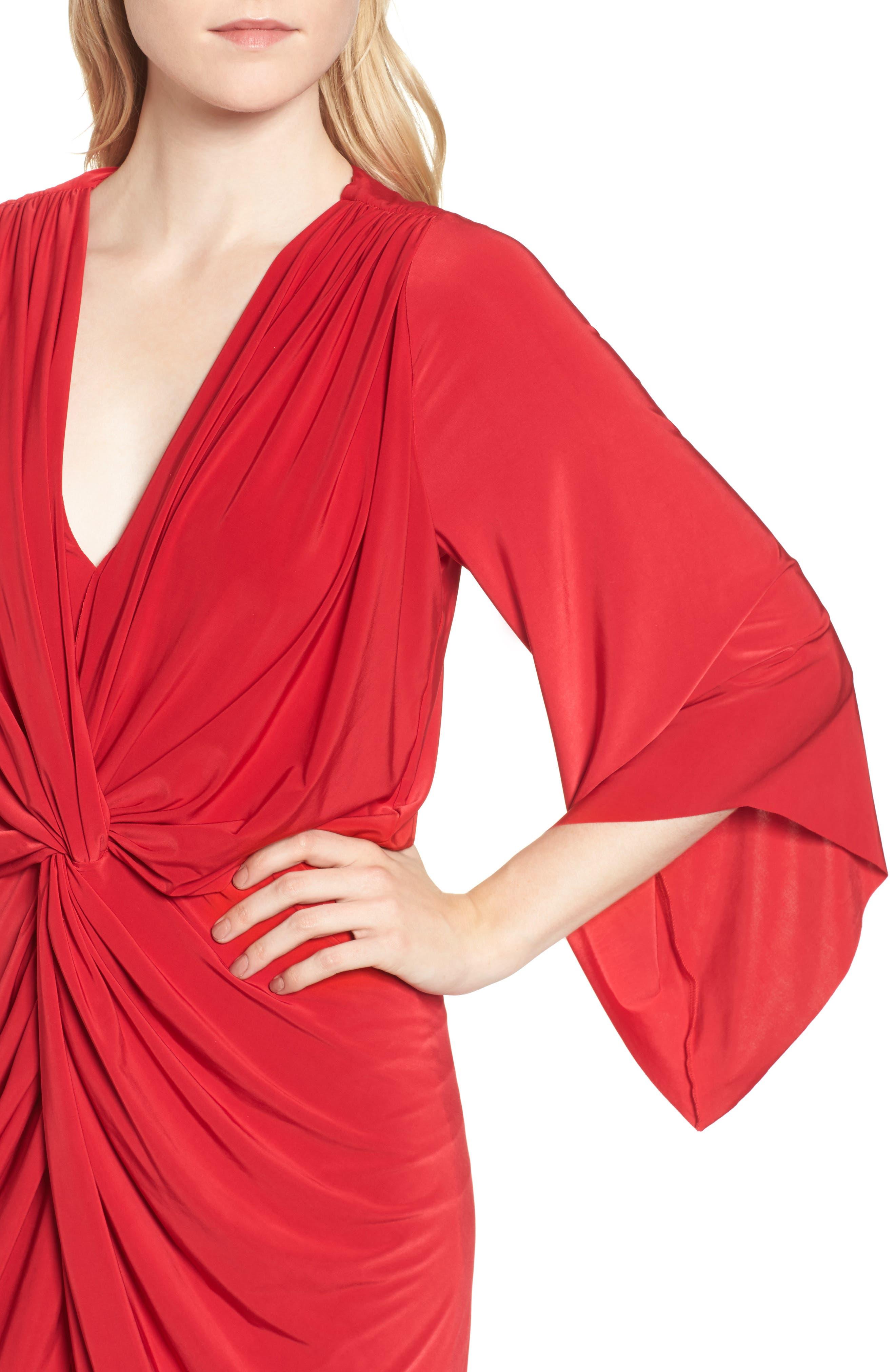 Alternate Image 4  - MISA Los Angeles Teget Knot Front Dress