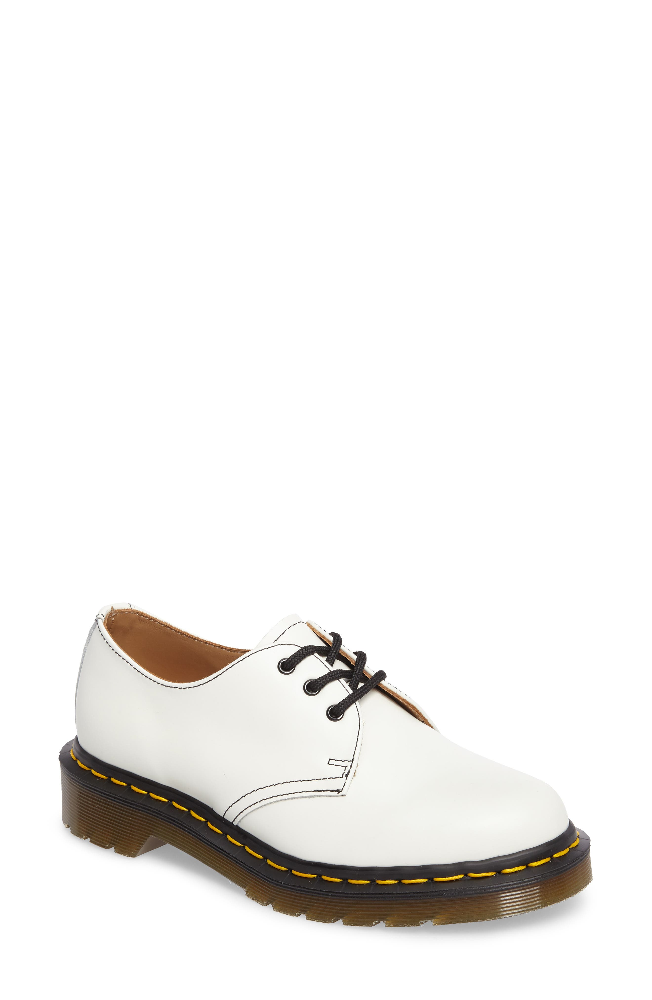 x Dr. Martens Pointy Toe Oxford,                             Main thumbnail 1, color,                             White