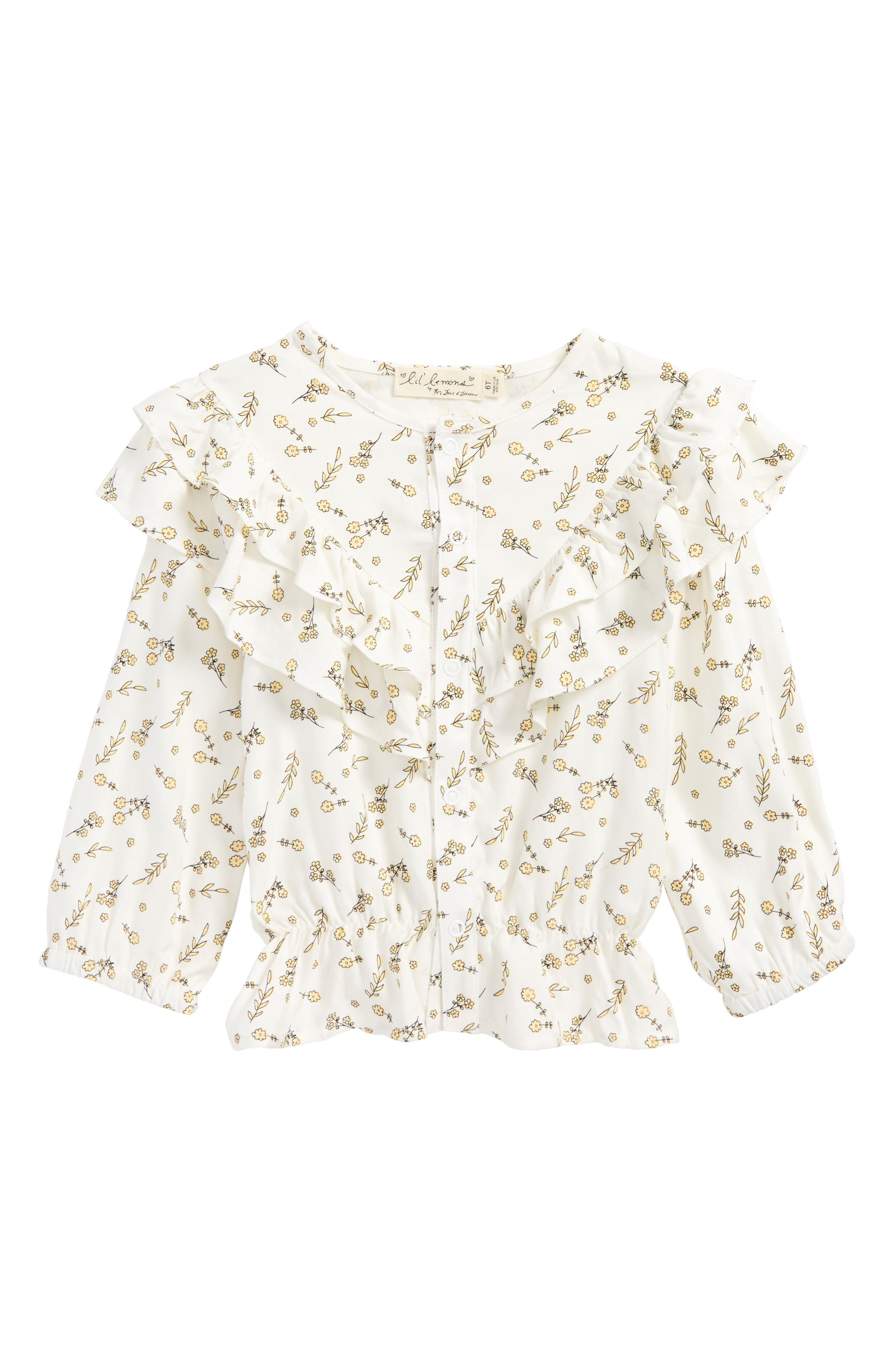 Alternate Image 1 Selected - For Love & Lemons Floral Blouse (Toddler Girls & Little Girls)