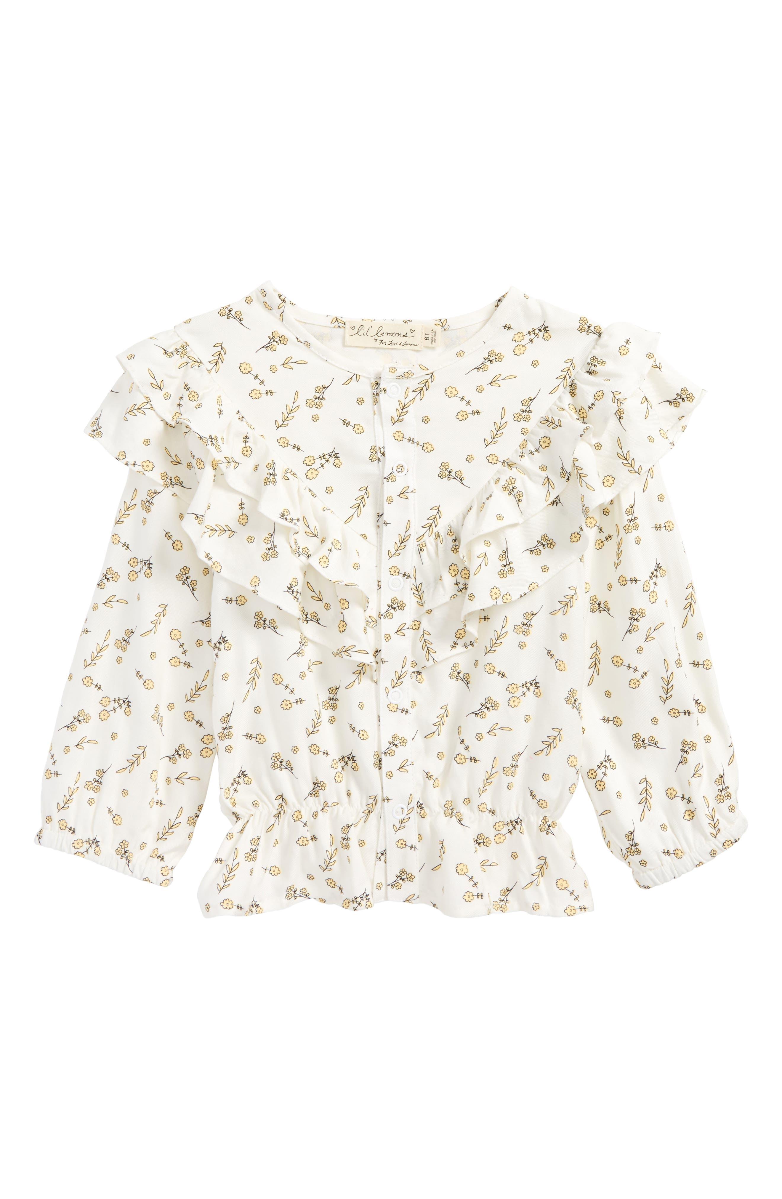 For Love & Lemons Floral Blouse (Toddler Girls & Little Girls)