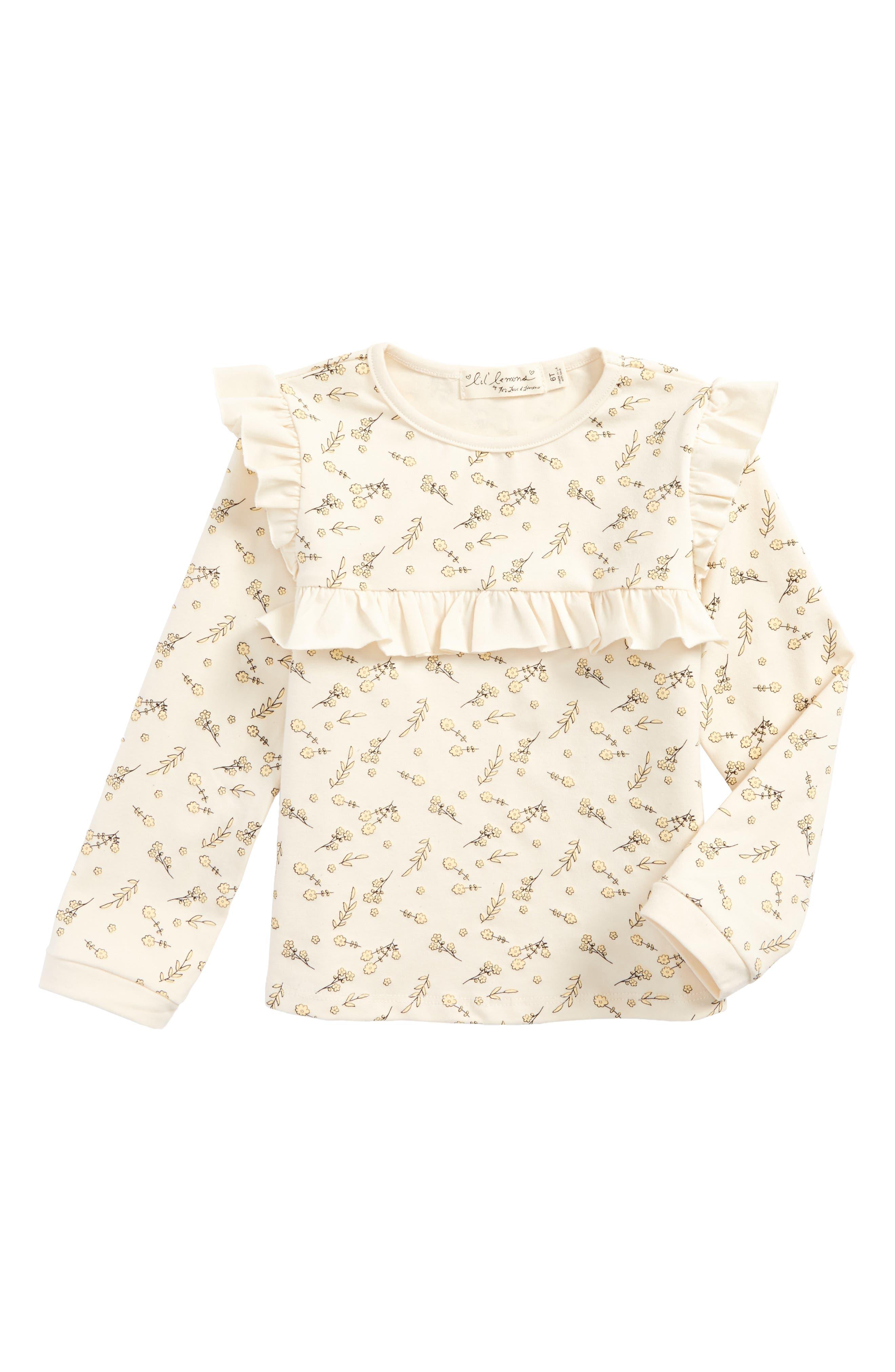 Main Image - For Love & Lemons Florette Ruffle Jersey Top (Toddler Girls & Little Girls)
