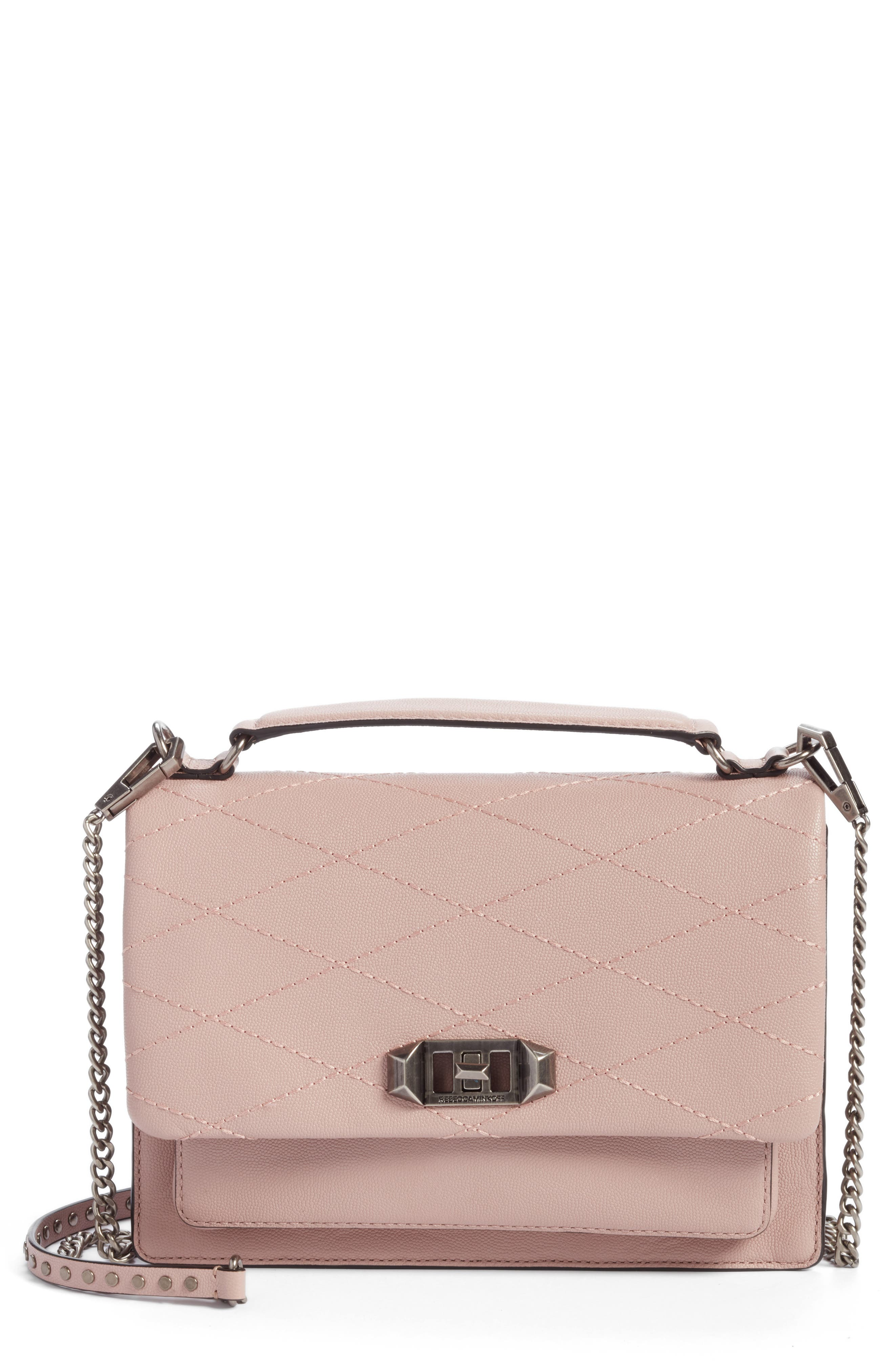 Medium Je T'aime Convertible Leather Crossbody Bag,                         Main,                         color, Vintage Pink