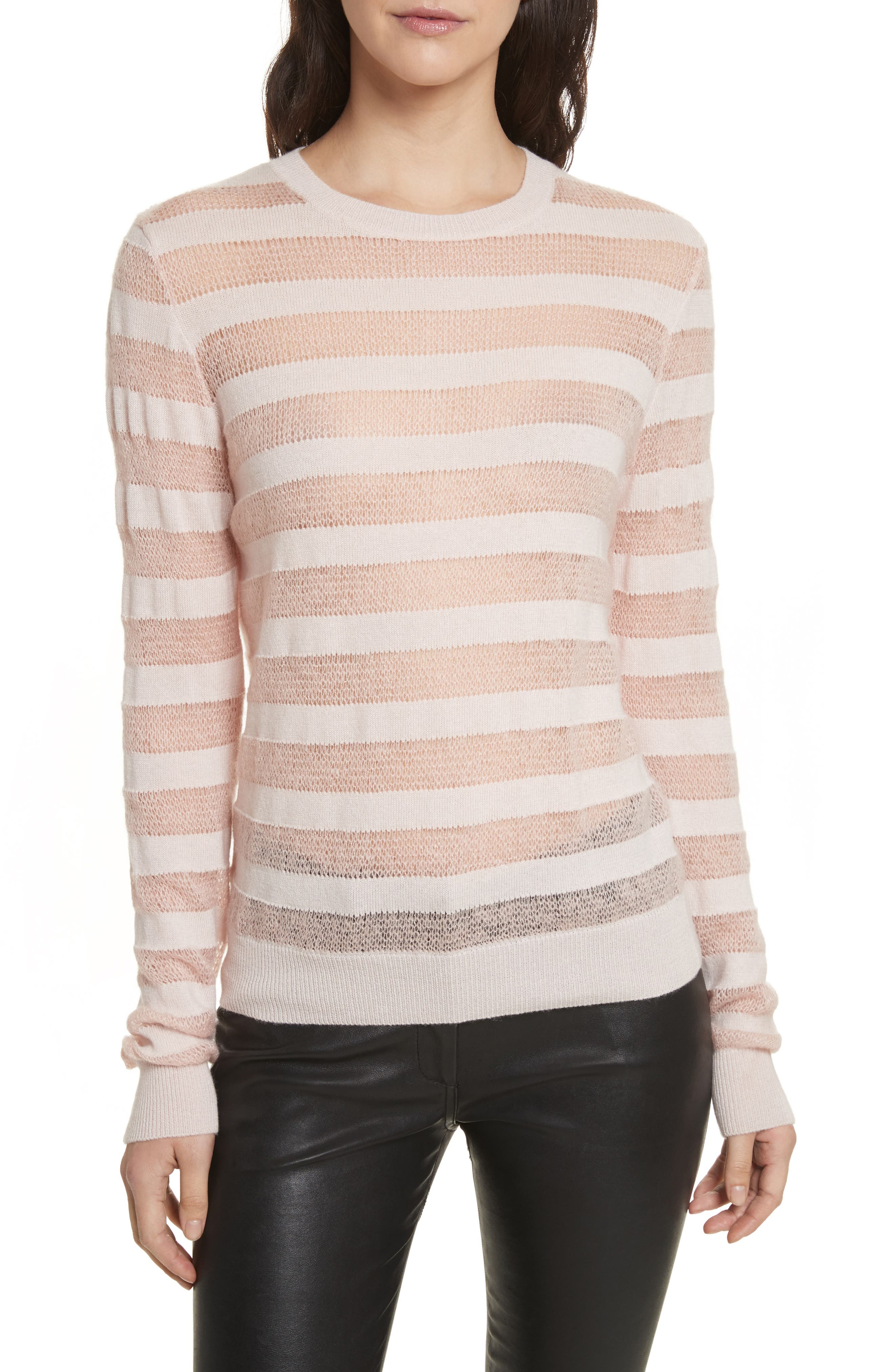Theo Stripe Sweater,                         Main,                         color, Zephyr