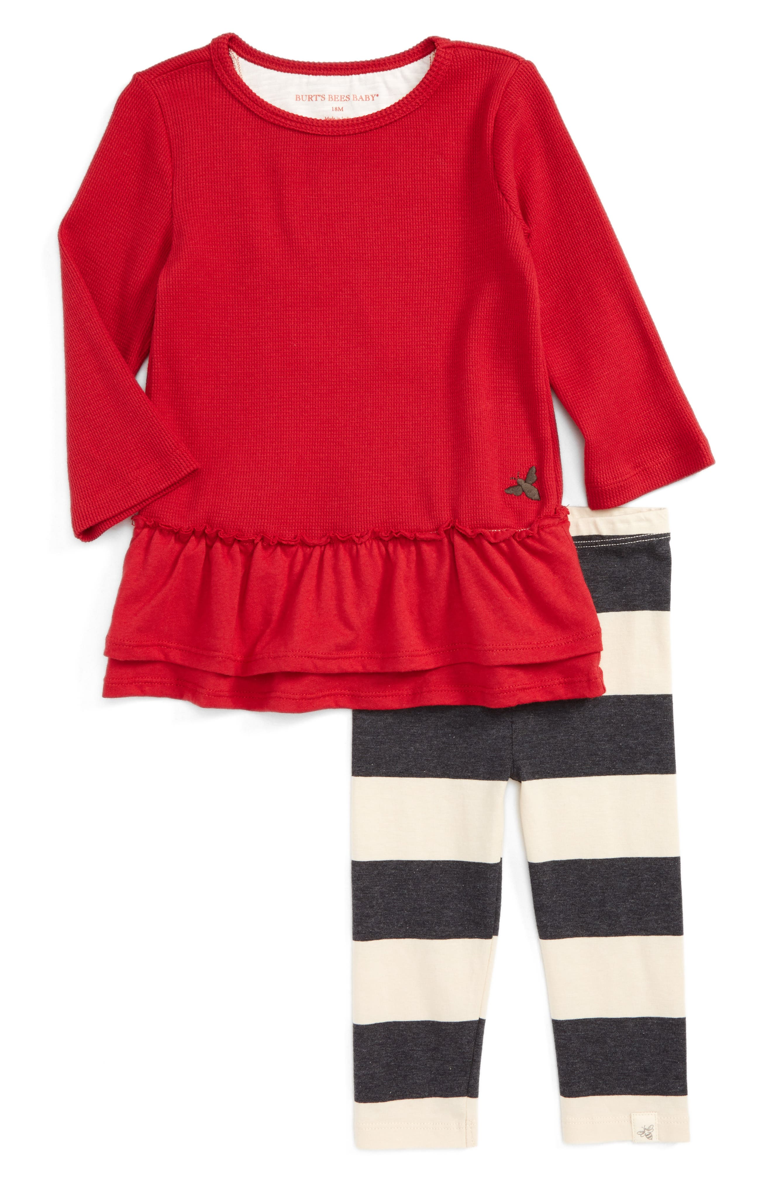 Burt's Bees Baby Thermal Ruffle Skater Dress & Leggings Set (Baby Girls)