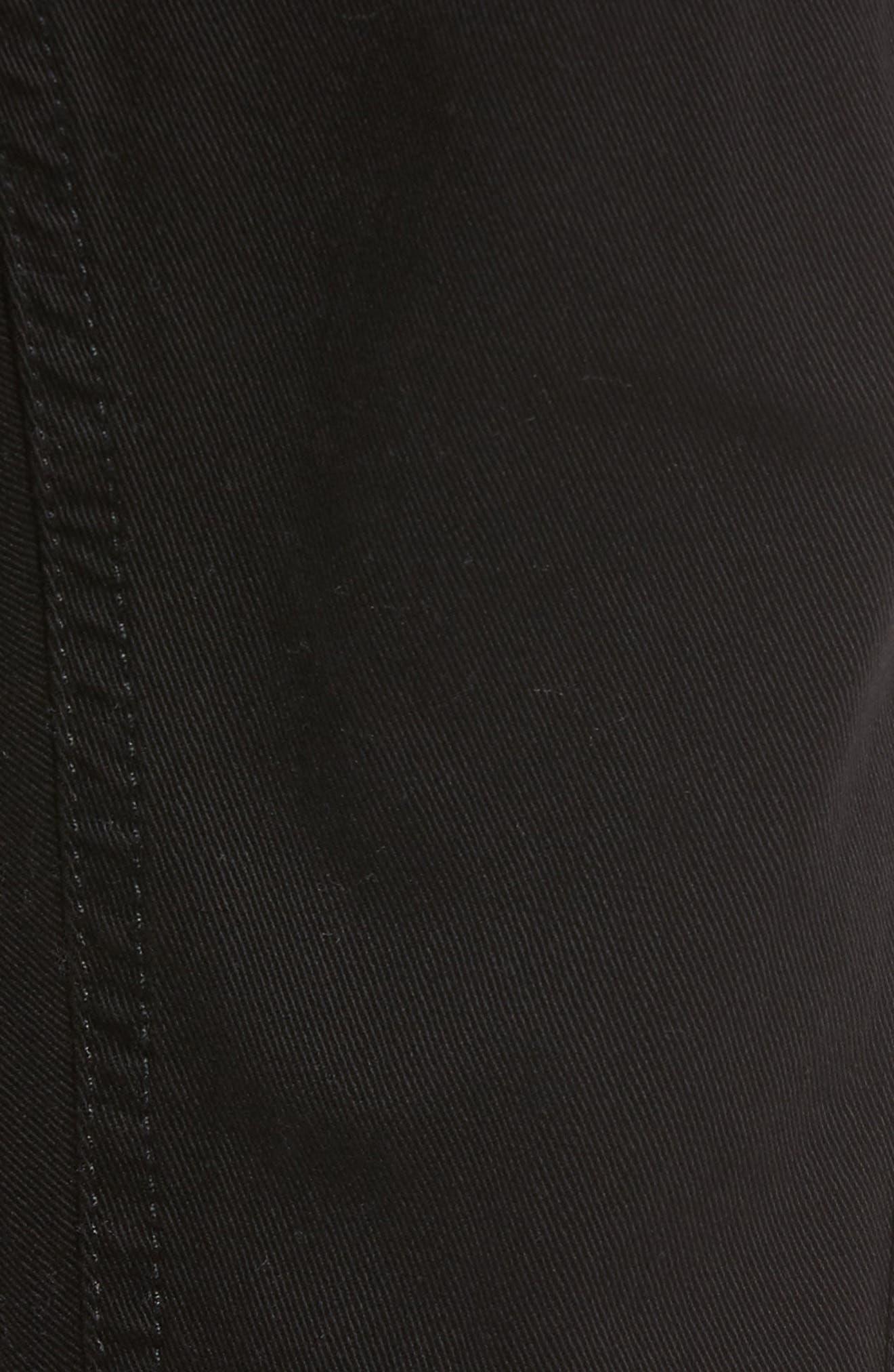 Alternate Image 5  - Hudson Jeans Greyson Cargo Biker Skinny Fit Jeans (Black)