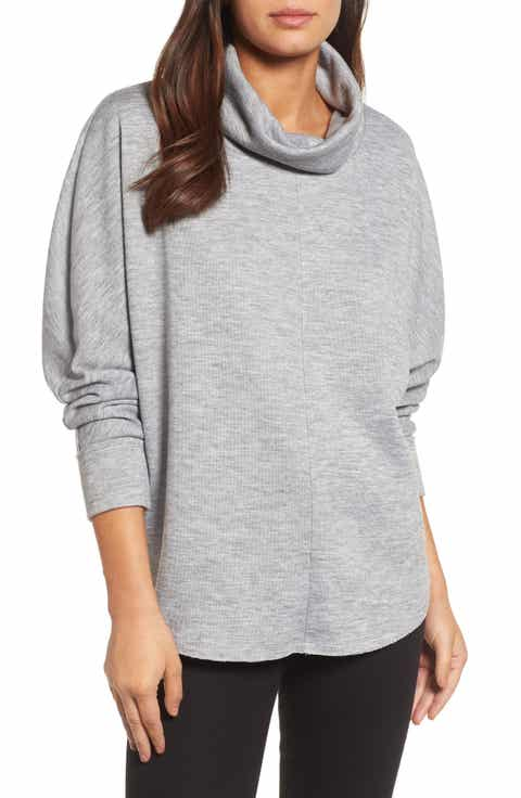 Women's Grey Cowl Neck Sweaters   Nordstrom