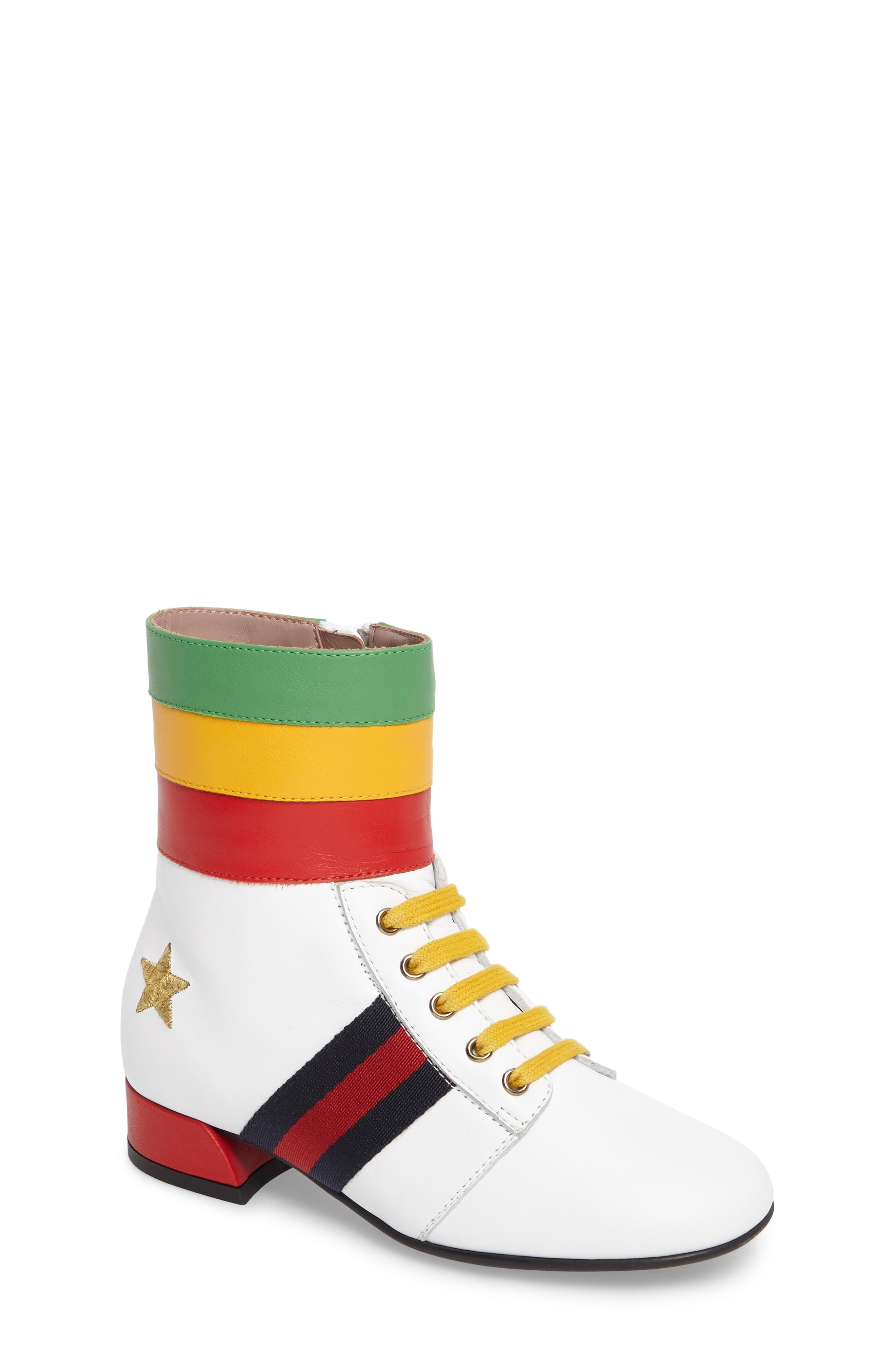 Alternate Image 1 Selected - Gucci Starlette Rainbow Bootie (Toddler & Little Kid)