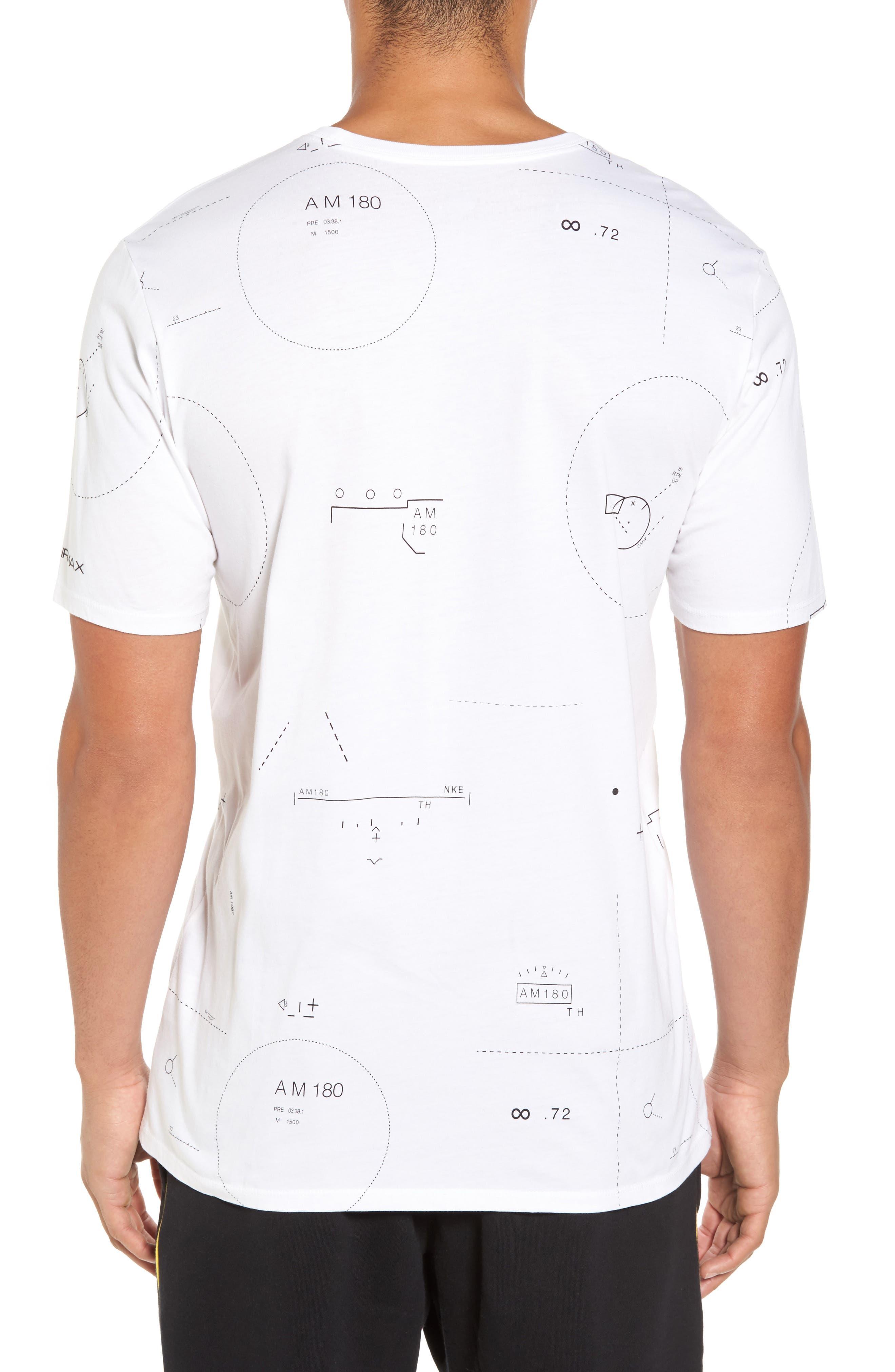 NSW Air Max 2 T-Shirt,                             Alternate thumbnail 3, color,                             White/ Black
