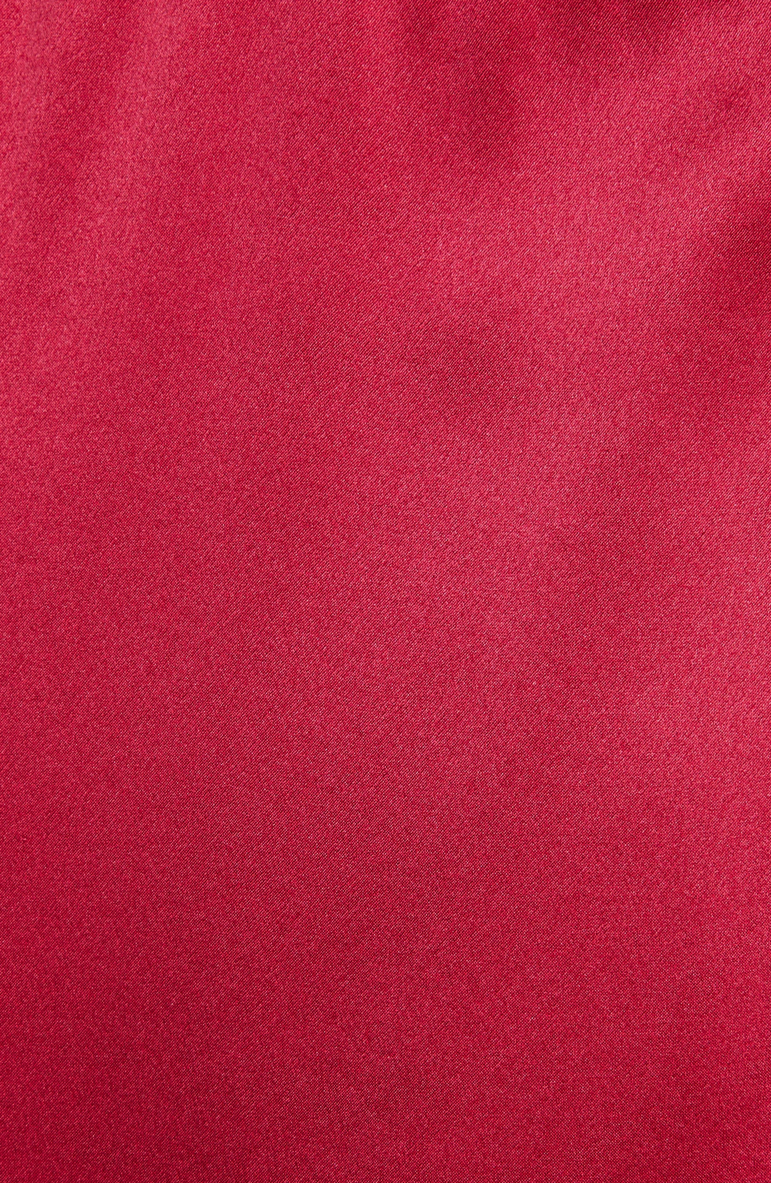 Marnie Satin Dress,                             Alternate thumbnail 5, color,                             Cerise