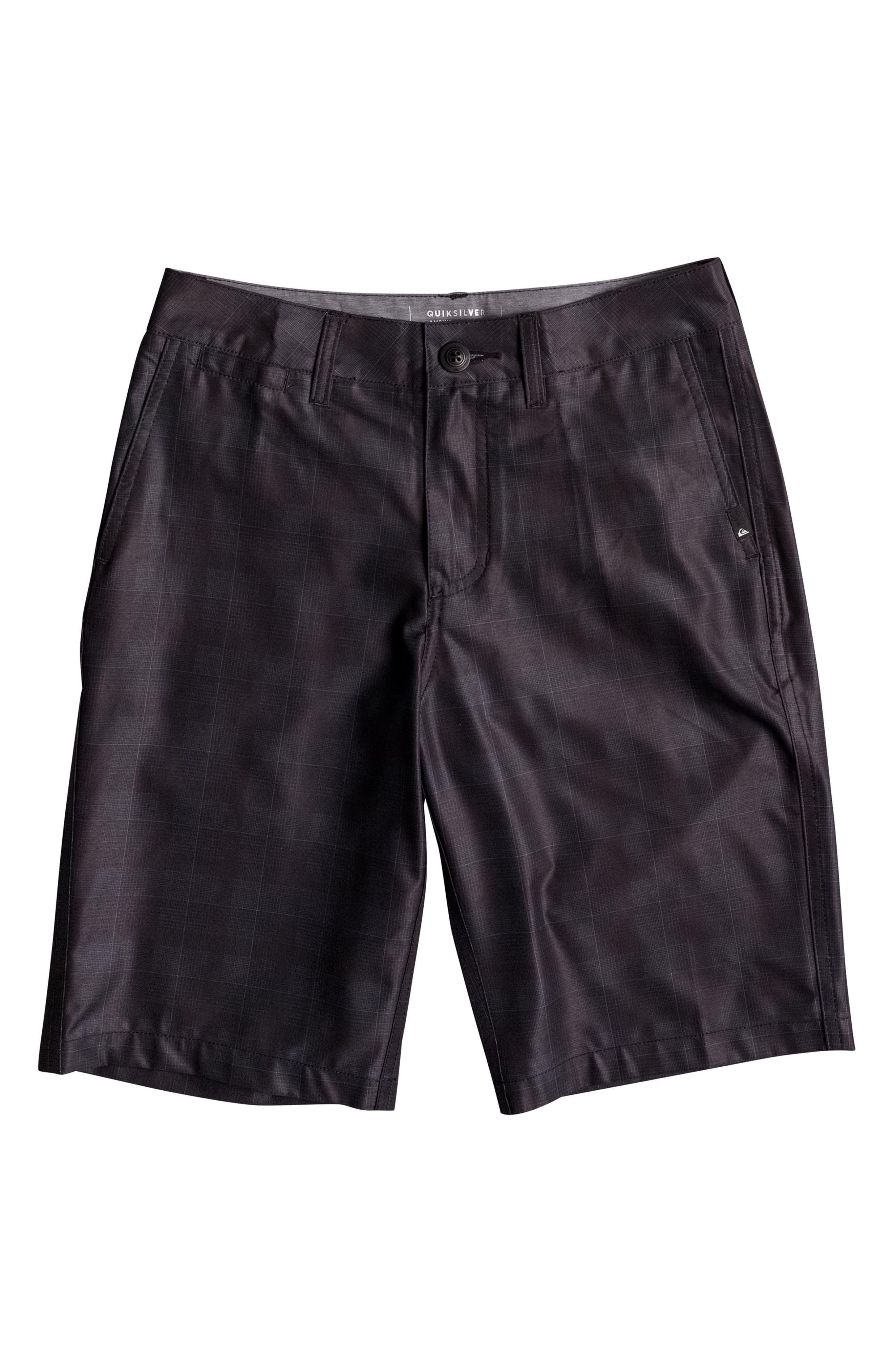 Alternate Image 1 Selected - Quiksilver Union Plaid Amphibian Hybrid Shorts (Big Boys)