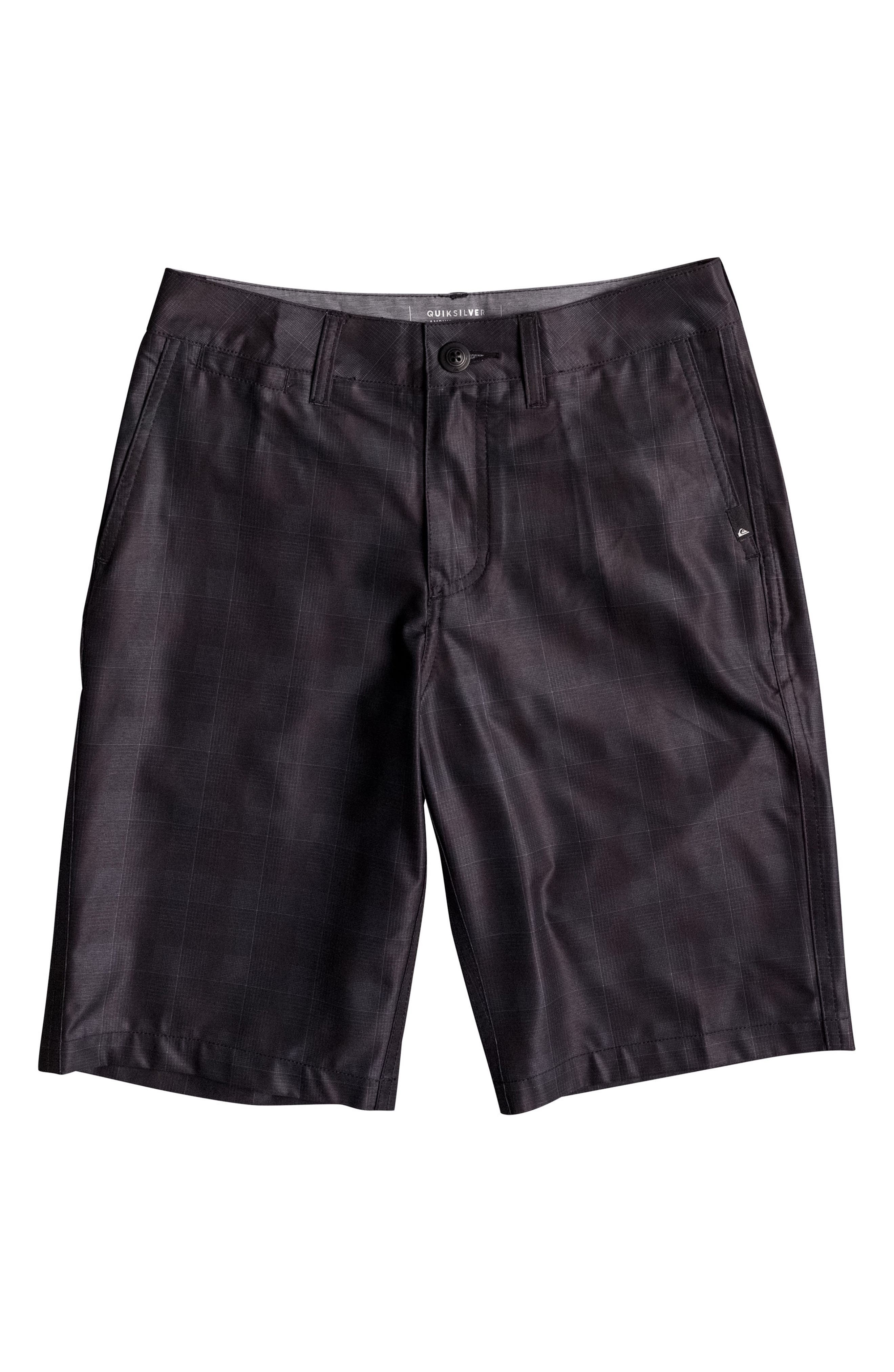 Quiksilver Union Plaid Amphibian Hybrid Shorts (Big Boys)