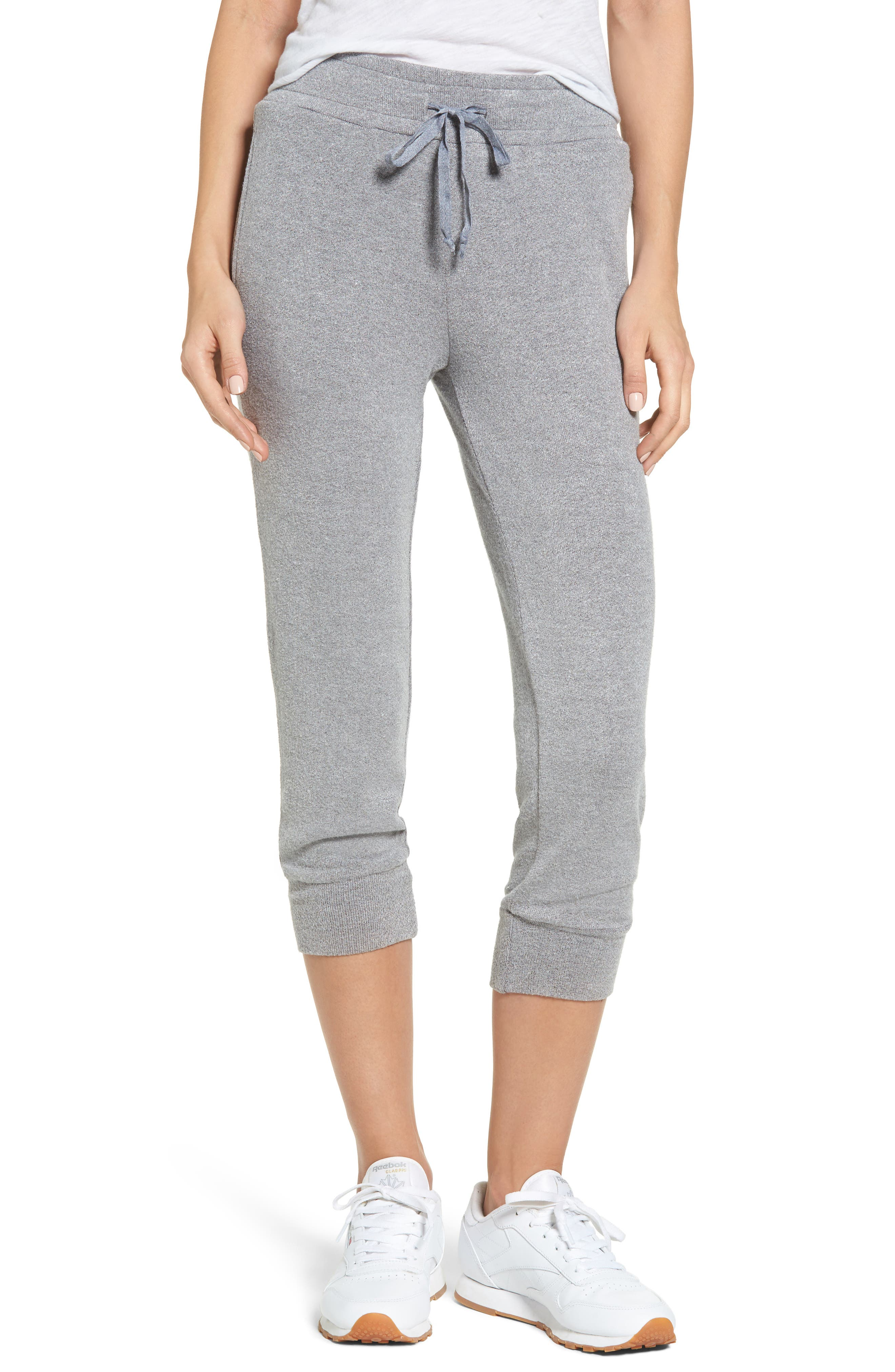 Alternate Image 1 Selected - Lira Clothing Flint Fleece Crop Jogger Pants