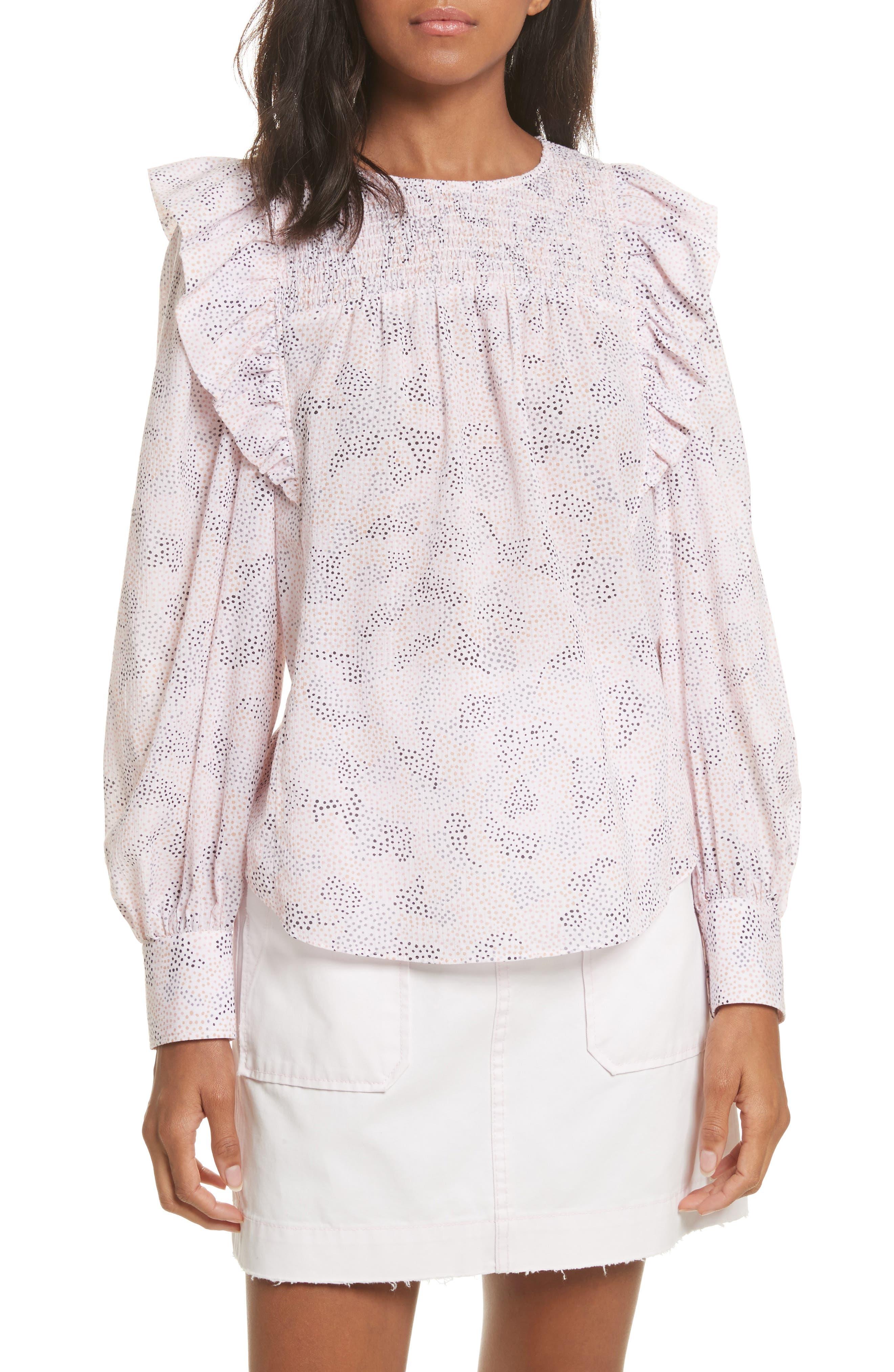 Darcie Dot Top,                         Main,                         color, Cherry Blossom