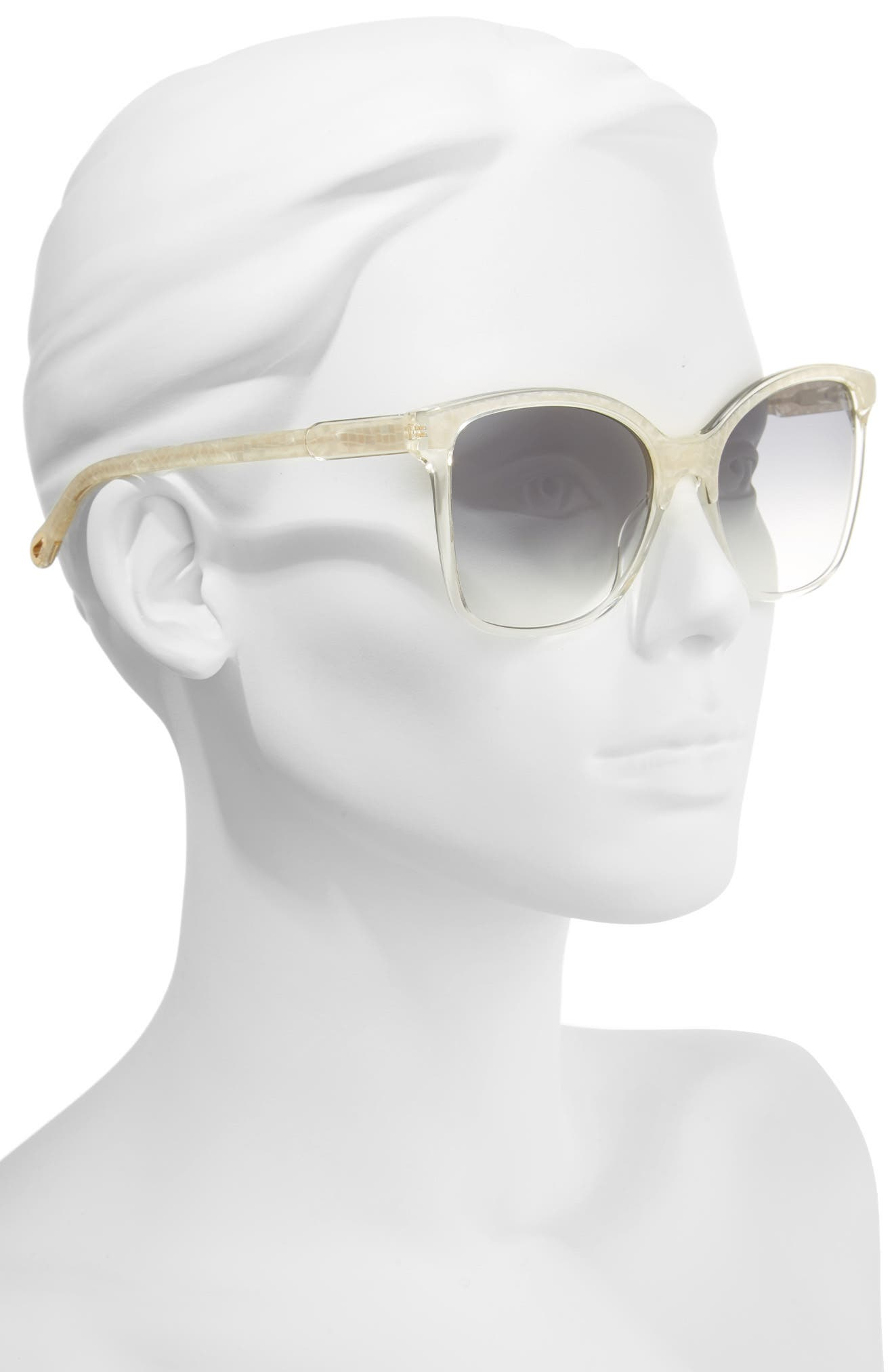 59mm Brow Bar Sunglasses,                             Alternate thumbnail 2, color,                             Pearl/ Champagne