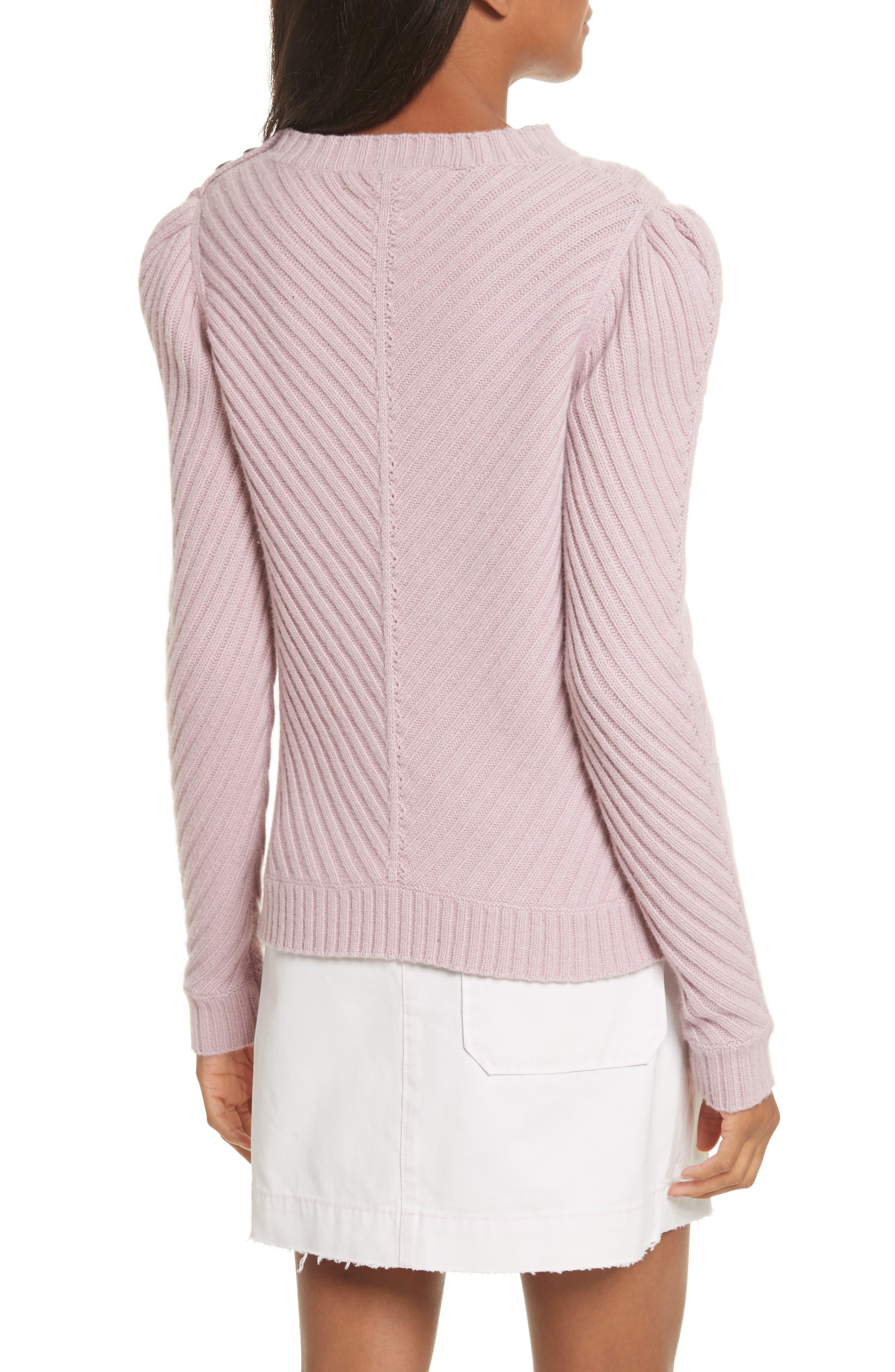 Ribbed Knit Pullover,                             Alternate thumbnail 2, color,                             Mauve