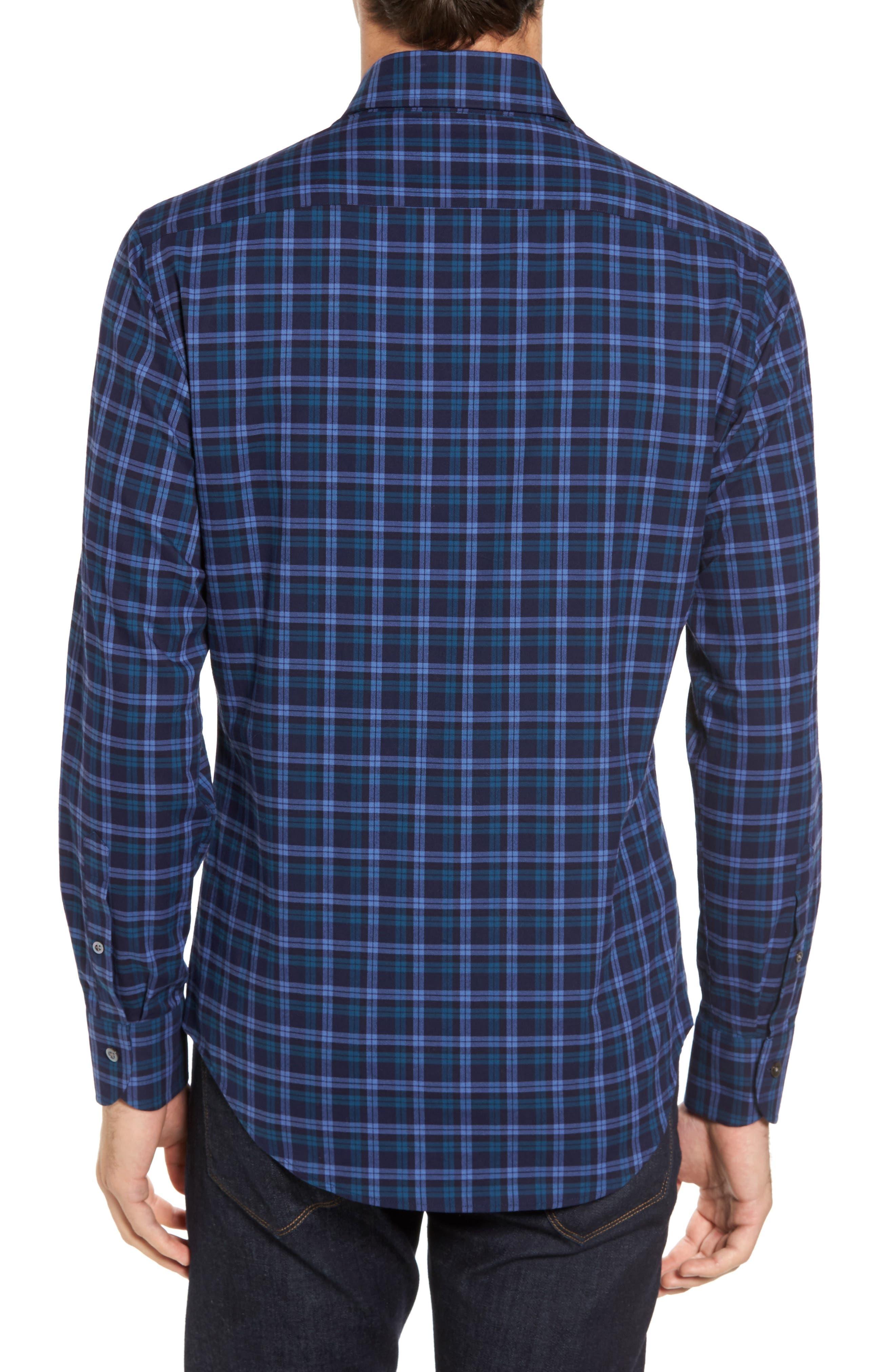 Alternate Image 2  - Ledbury The Blue Goode Slim Fit Plaid Sport Shirt