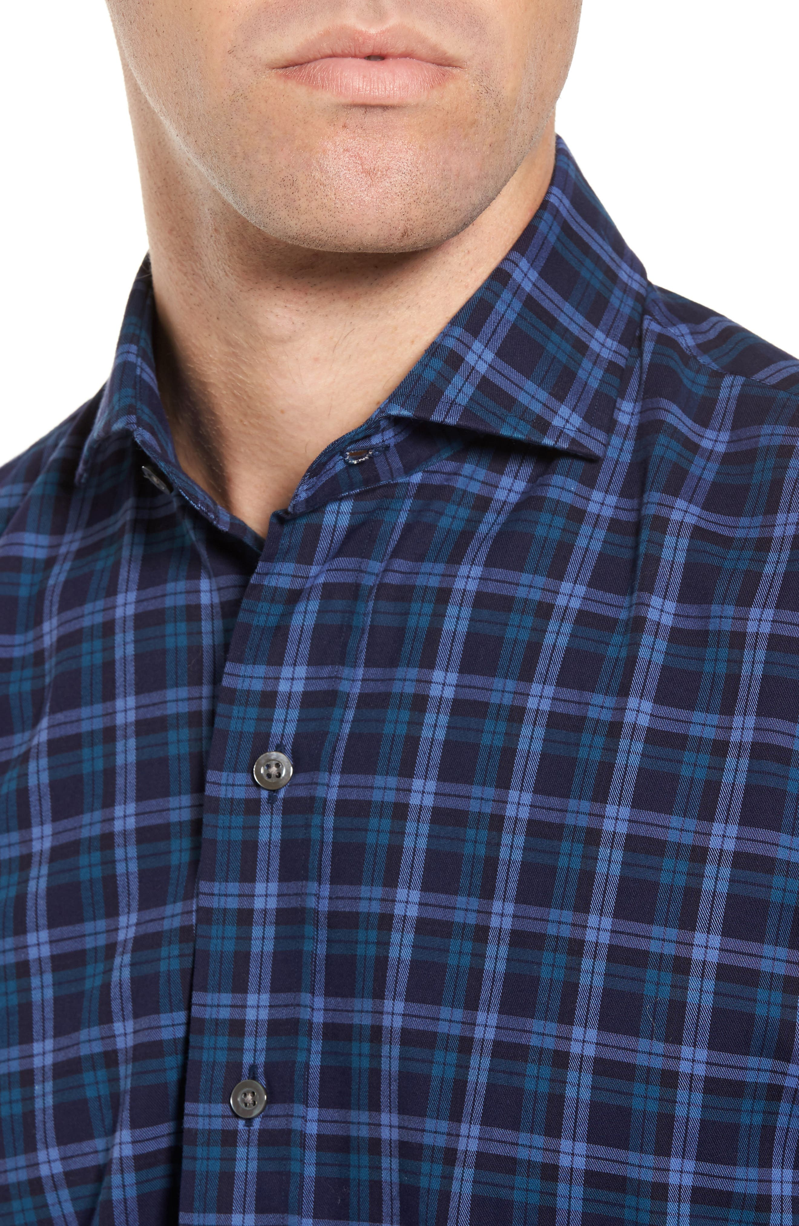 Alternate Image 4  - Ledbury The Blue Goode Slim Fit Plaid Sport Shirt