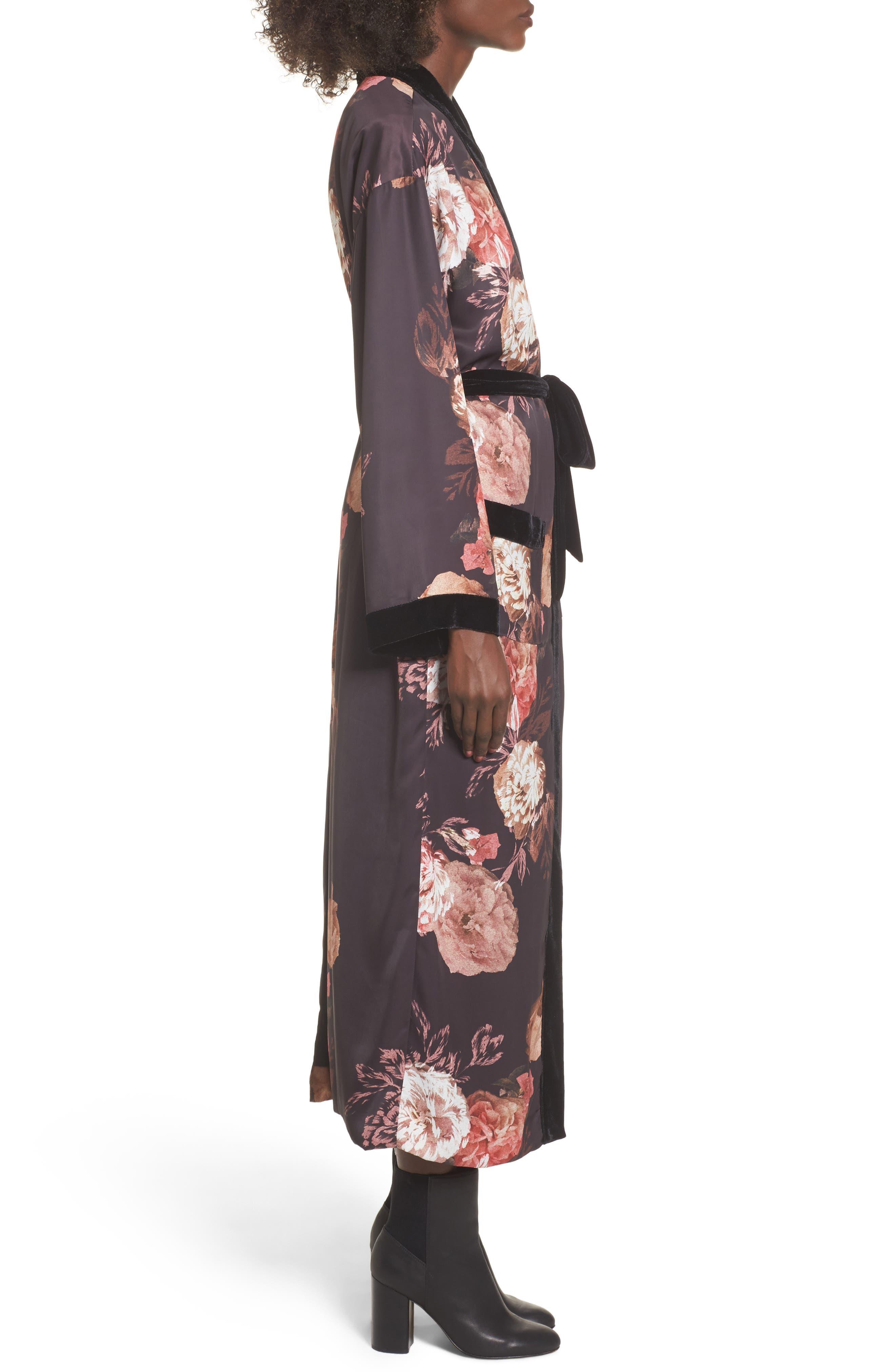 Floral Kimono,                             Alternate thumbnail 3, color,                             Victorian Floral