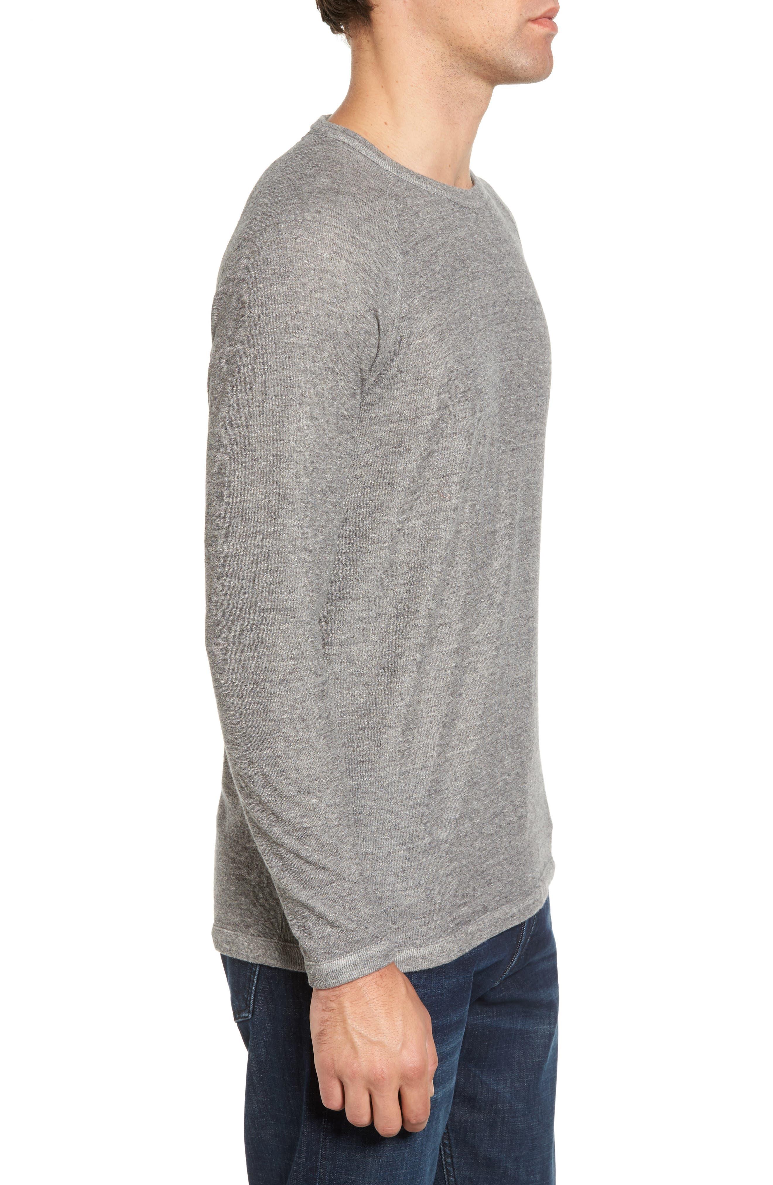 Jensen Double Cloth Crewneck Shirt,                             Alternate thumbnail 3, color,                             Grey