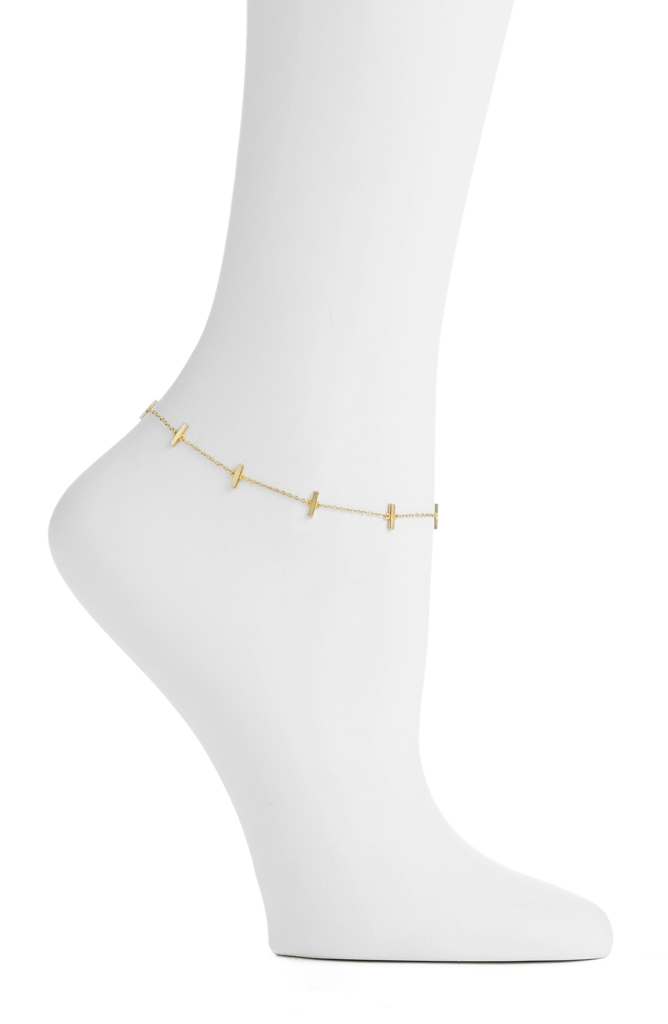Alternate Image 1 Selected - Argento Vivo Bar Station Anklet