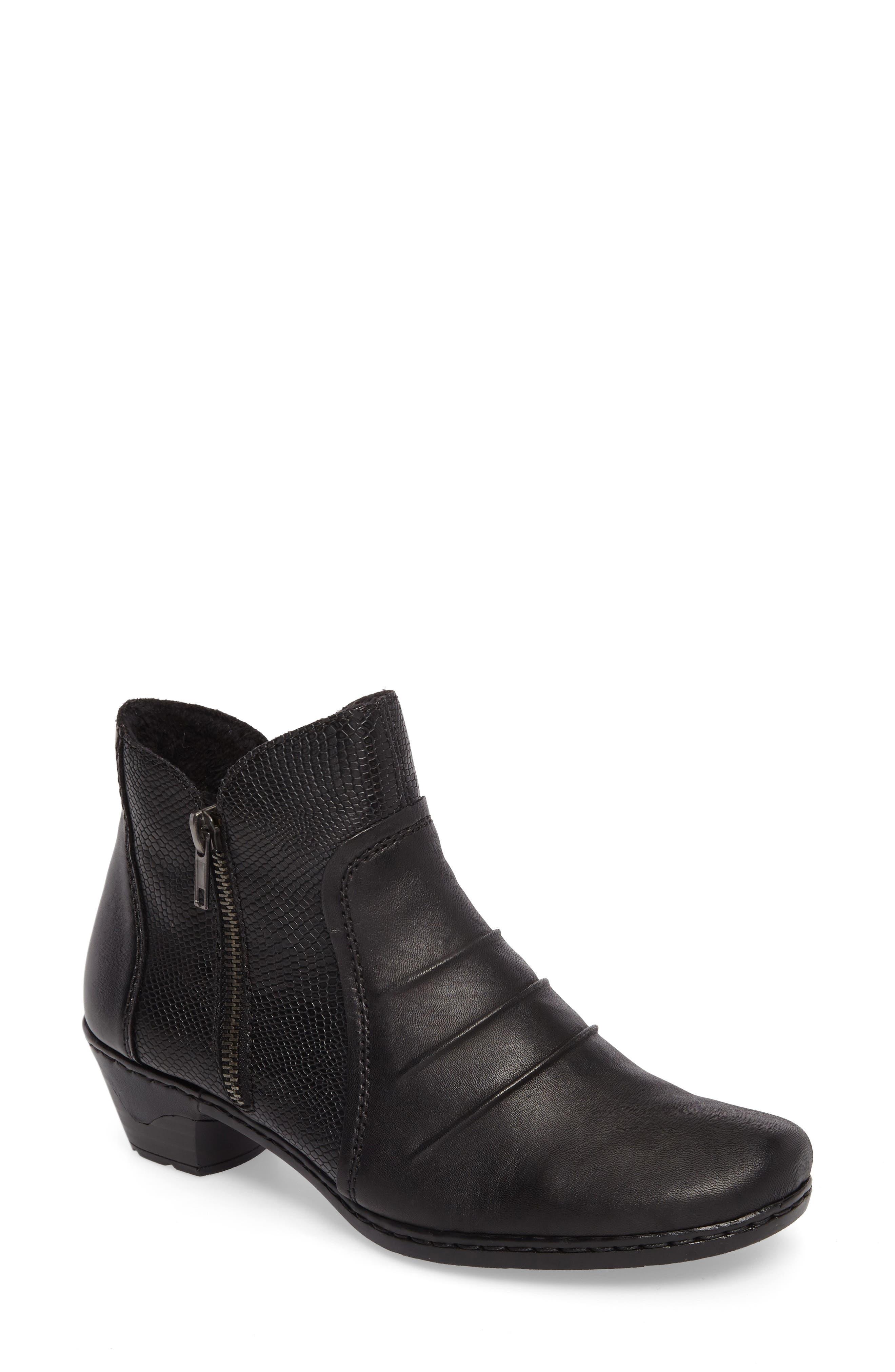 Lynn 62 Bootie,                         Main,                         color, Schwarz Nero Leather