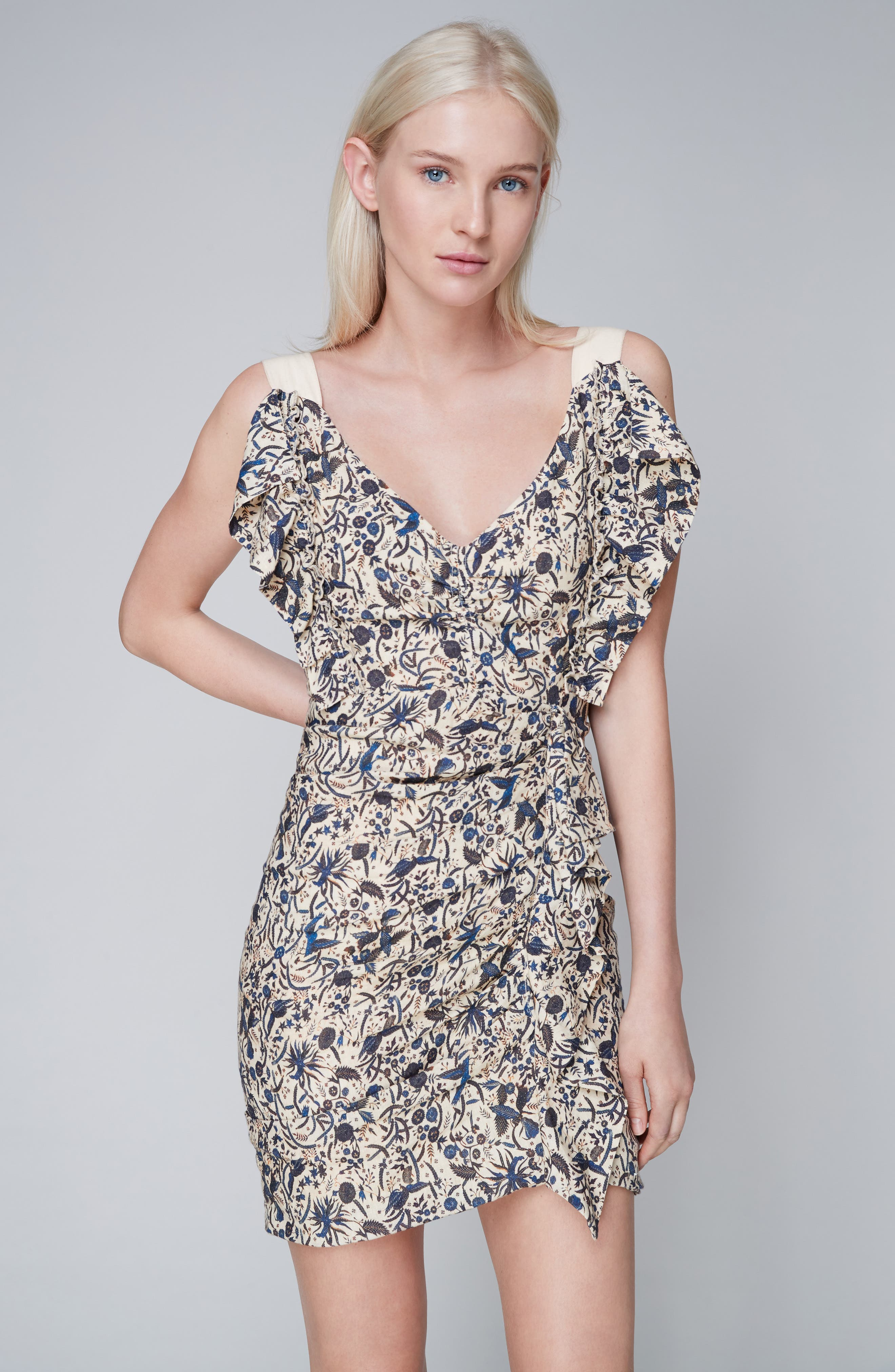 Alternate Image 2  - Isabel Marant Étoile Topaz Print Linen Dress