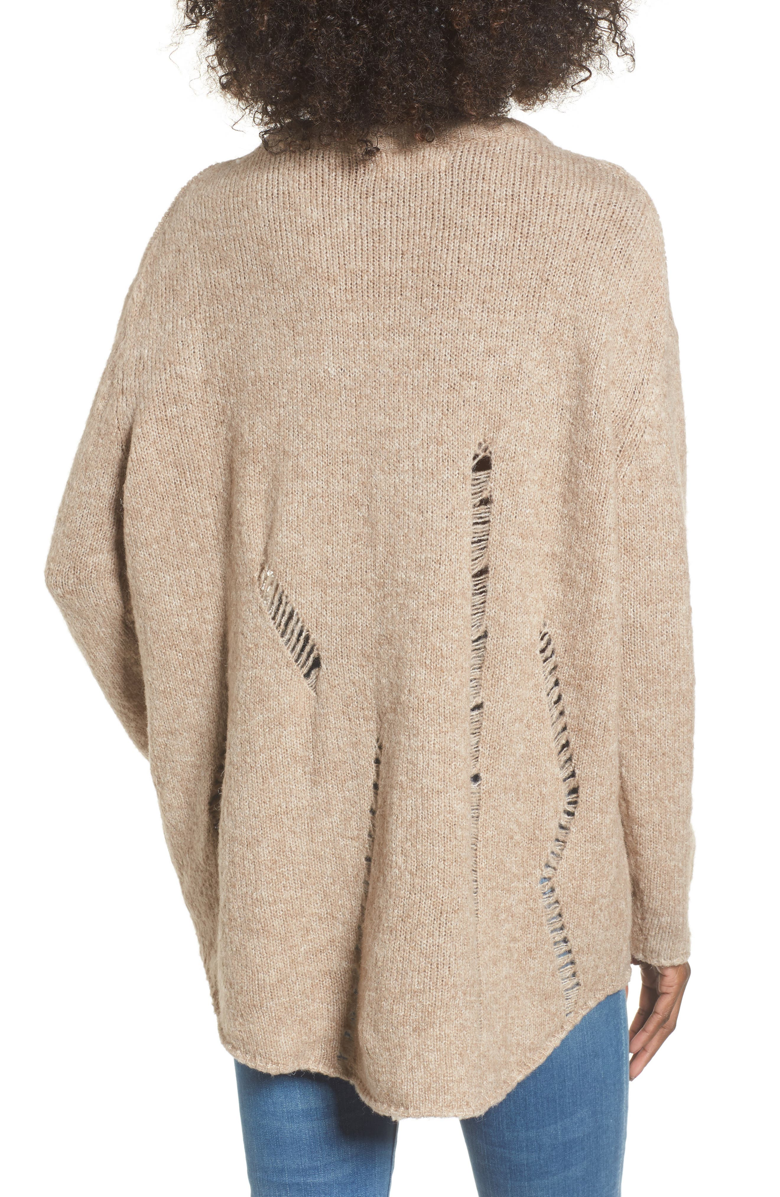 Alternate Image 2  - Elodie Destroyed Tunic Sweater